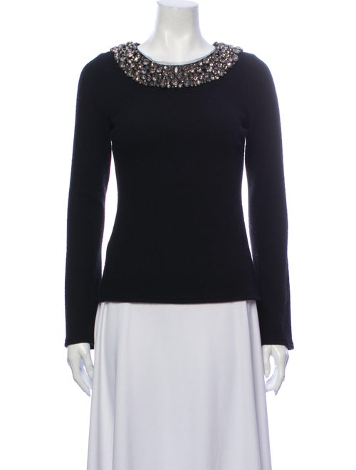 Vera Wang Crew Neck Sweater Black