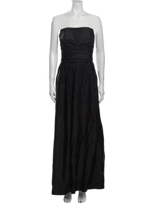 Vera Wang Strapless Long Dress Black