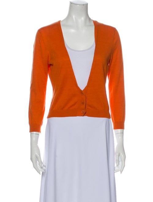 Vera Wang V-Neck Sweater Orange