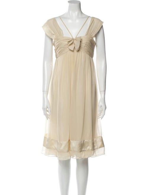 Vera Wang Silk Knee-Length Dress