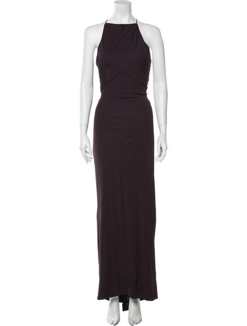 Vera Wang Silk Long Dress Purple