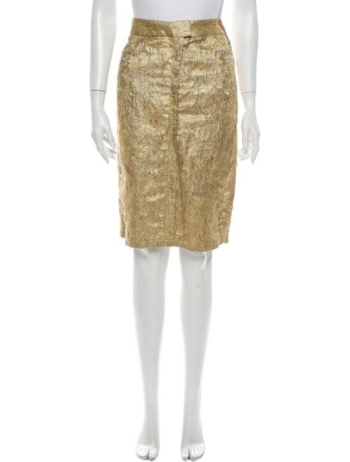Vera Wang Knee-Length Skirt Gold