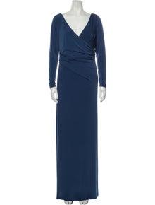 Vera Wang V-Neck Long Dress w/ Tags