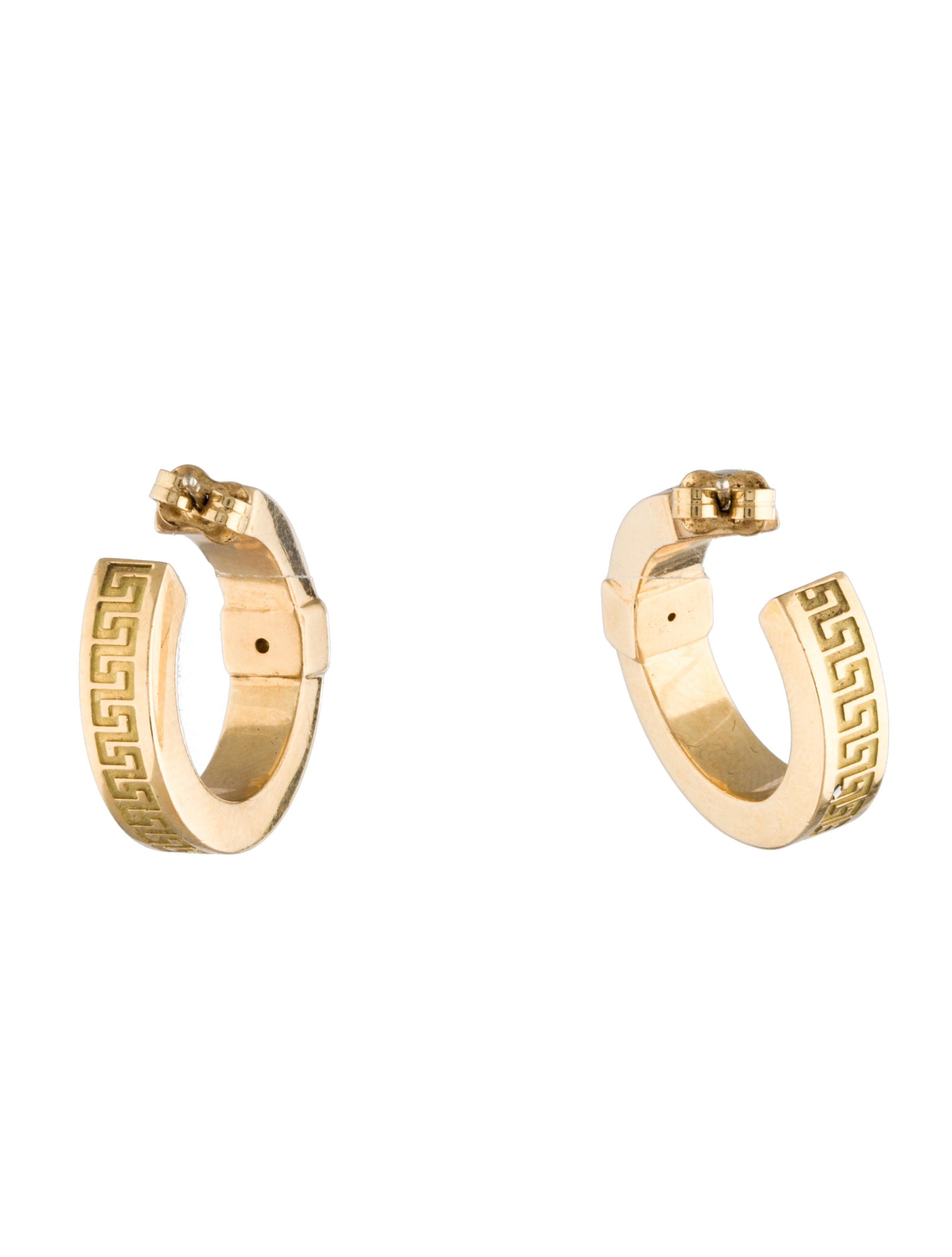 versace key hoop earrings earrings