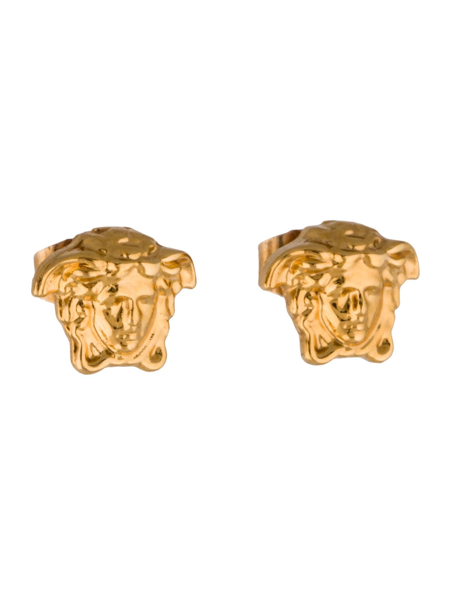 versace medusa stud earrings earrings ves23811 the