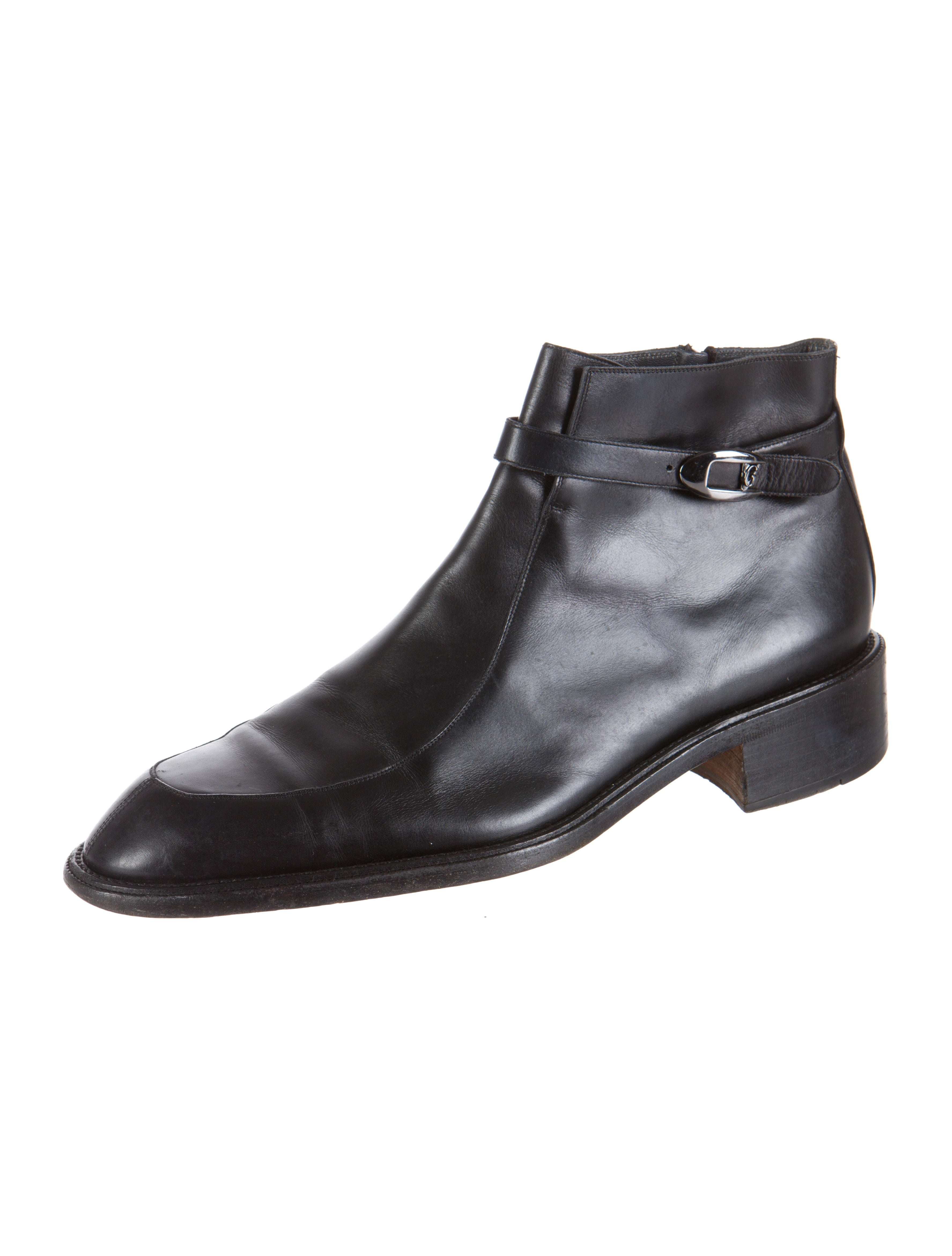 versace ankle boots shoes ves24231 the realreal