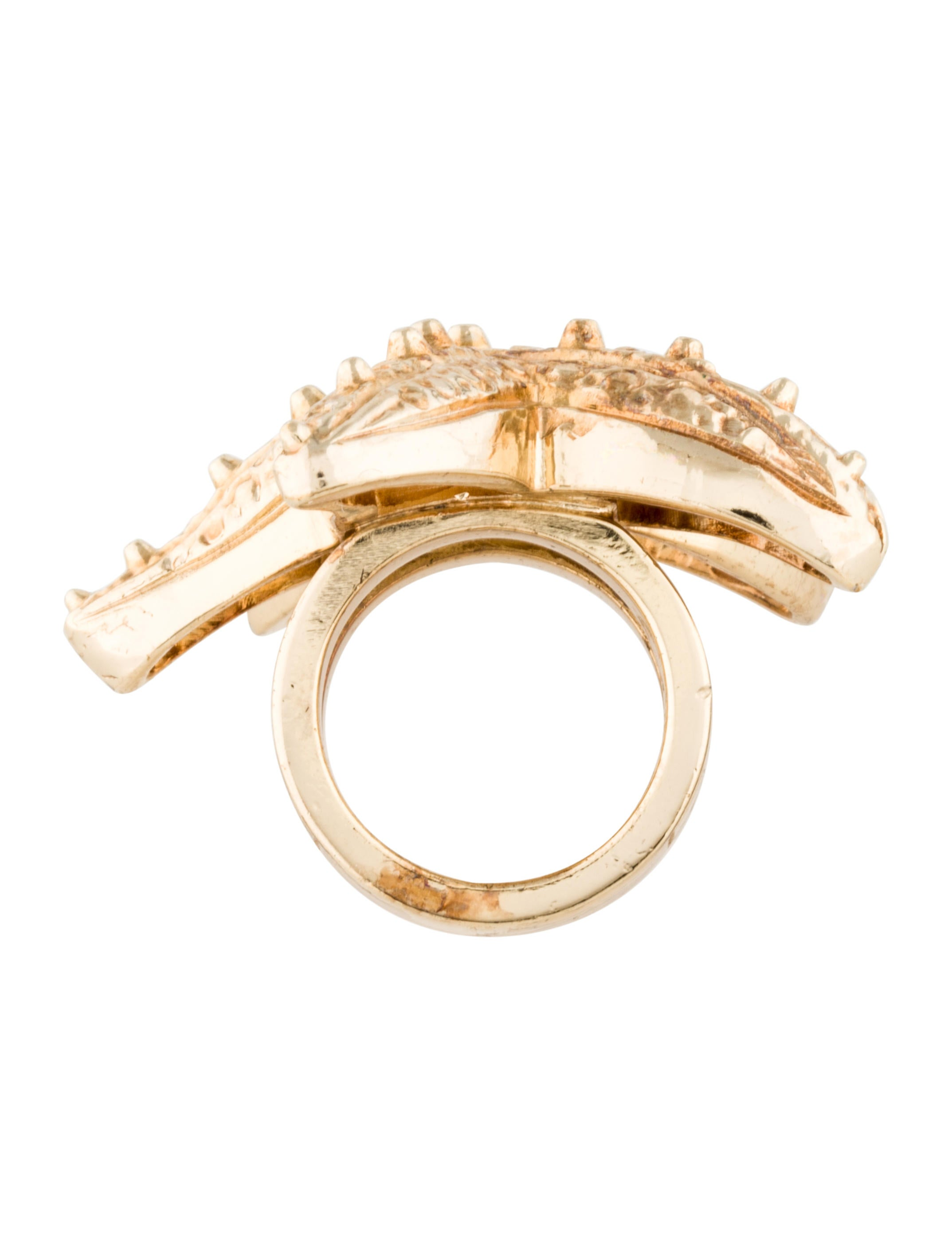 versace starfish cocktail ring rings ves25071 the