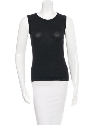 Versace Sleeveless Wool Top None