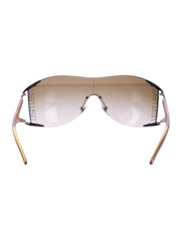 8bfa459091e Versace Crystal Embellished Shield Sunglasses - Accessories ...