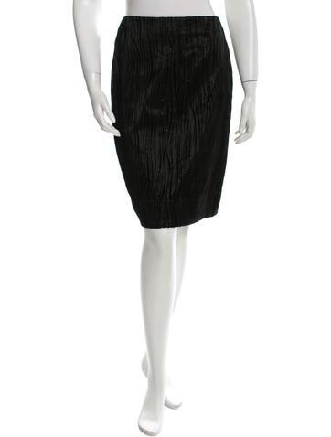 Versace Textured Pencil Skirt None