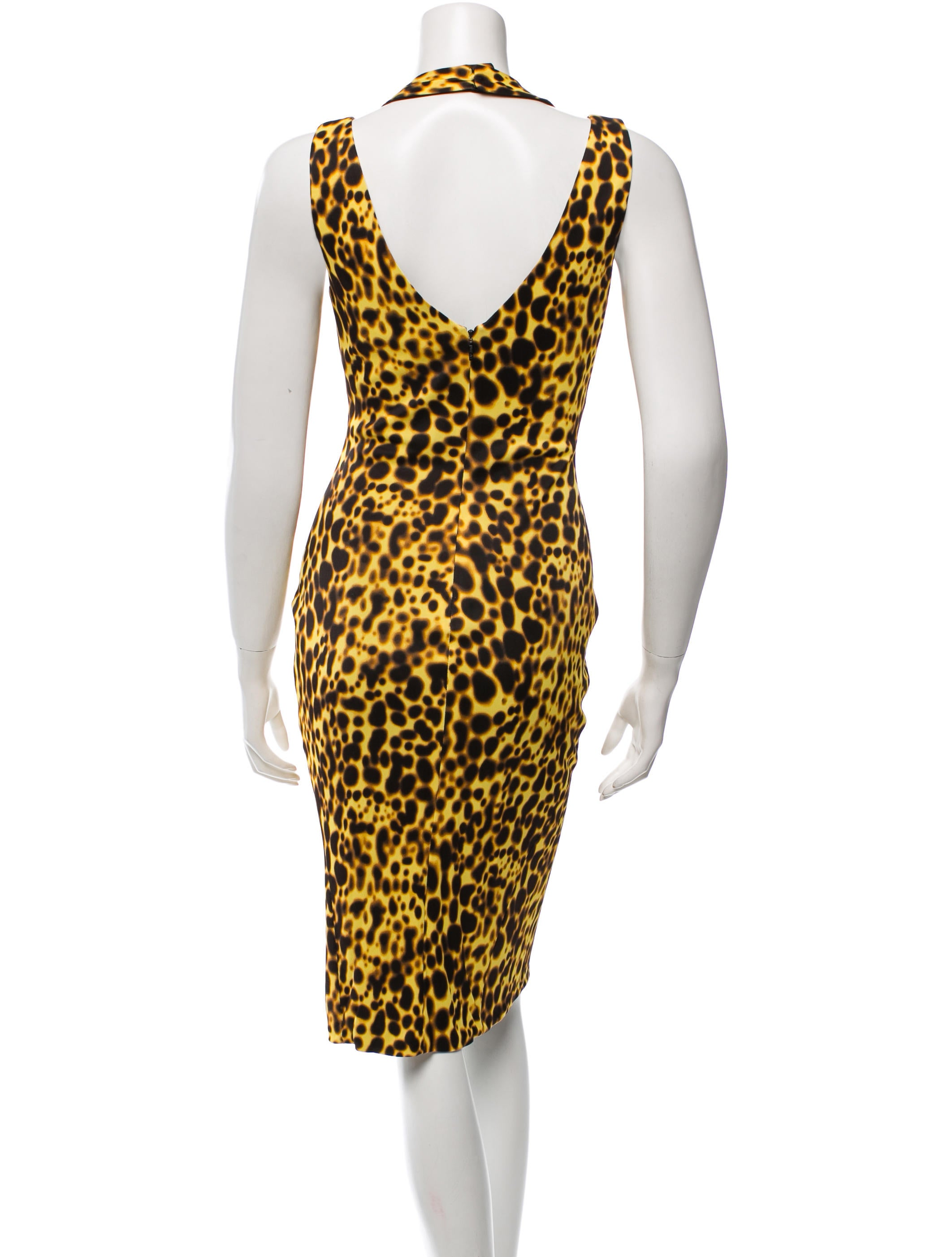 versace cheetah print mini dress clothing ves26525