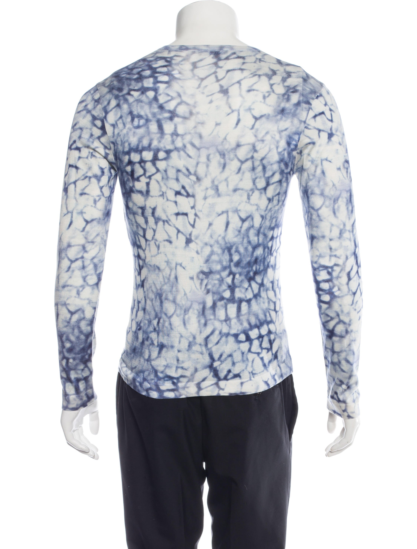 Versace silk v neck long sleeve t shirt clothing for Silk long sleeve shirt