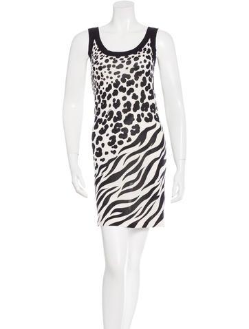 Versace Silk Animal Print Dress None