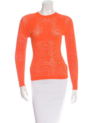 Versace Lasercut Knit Sweater w/ Tags None