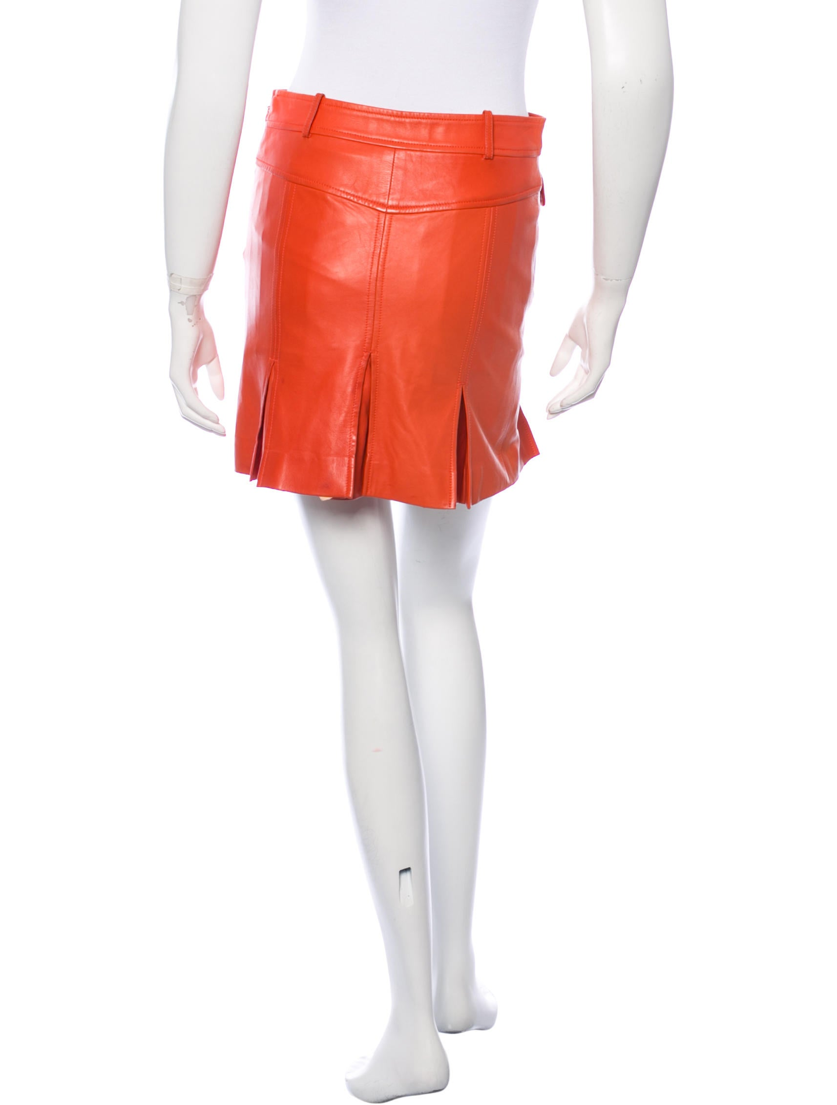 versace pleated leather skirt clothing ves27164 the