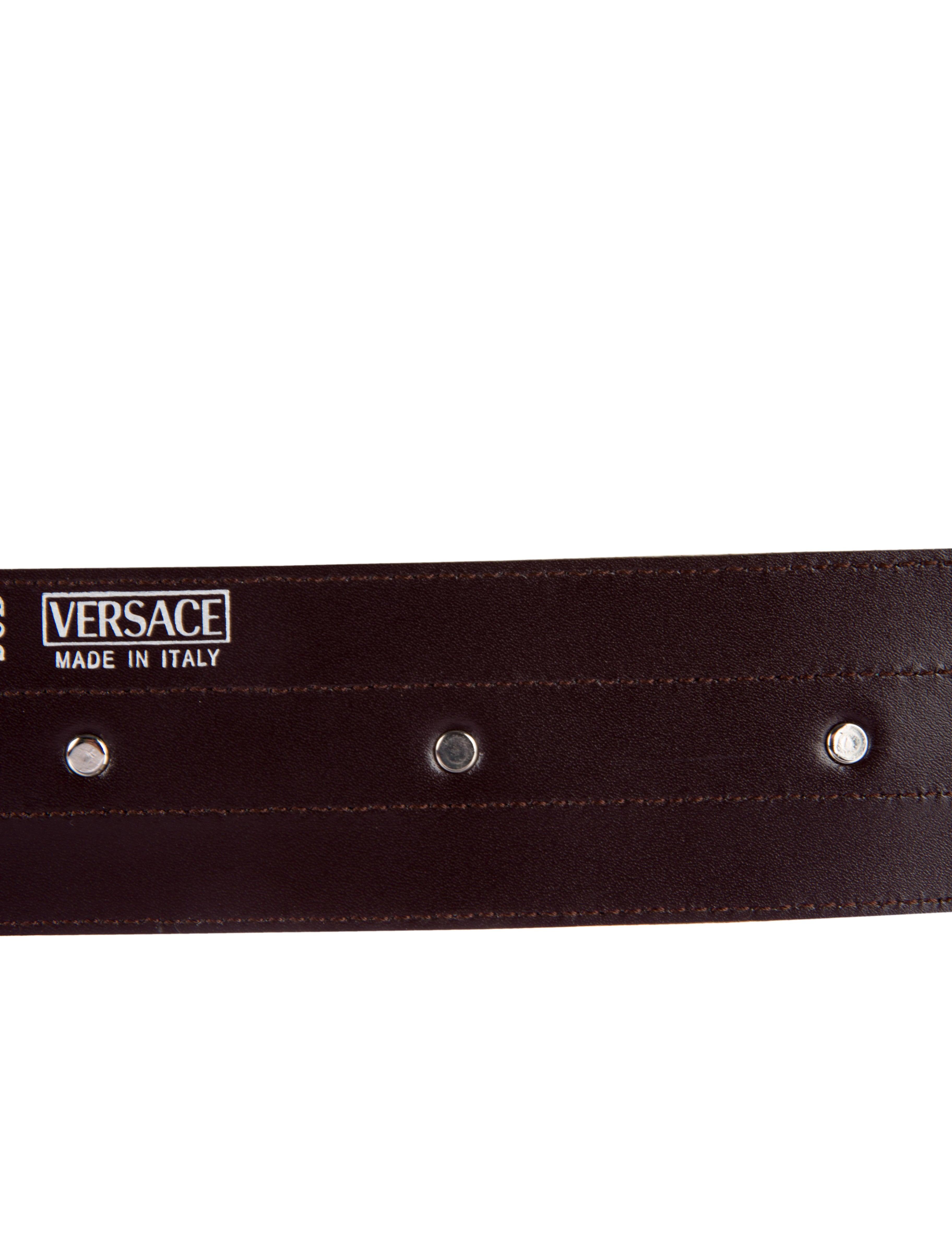versace embossed waist belt accessories ves27663 the