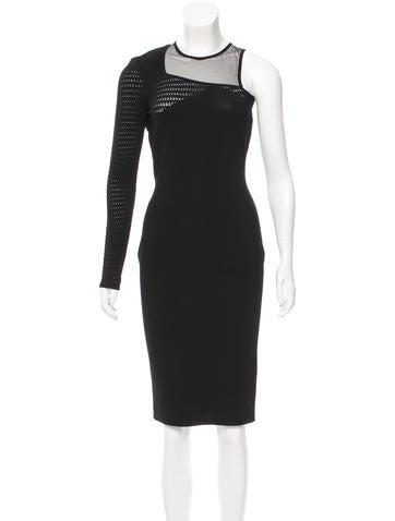 Versace Mesh-Paneled Bodycon Dress w/ Tags None