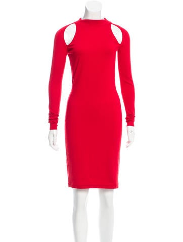 Versace Cutout Wool Knit Dress None