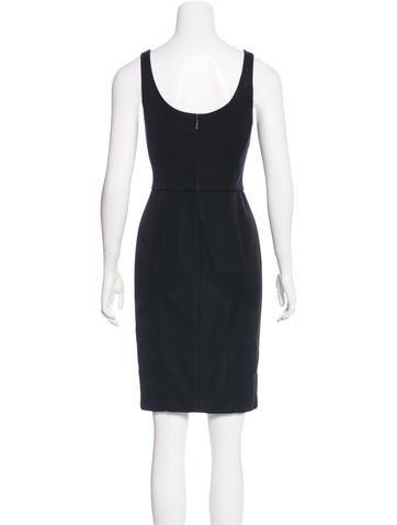 versace corset kneelength dress  clothing  ves28326