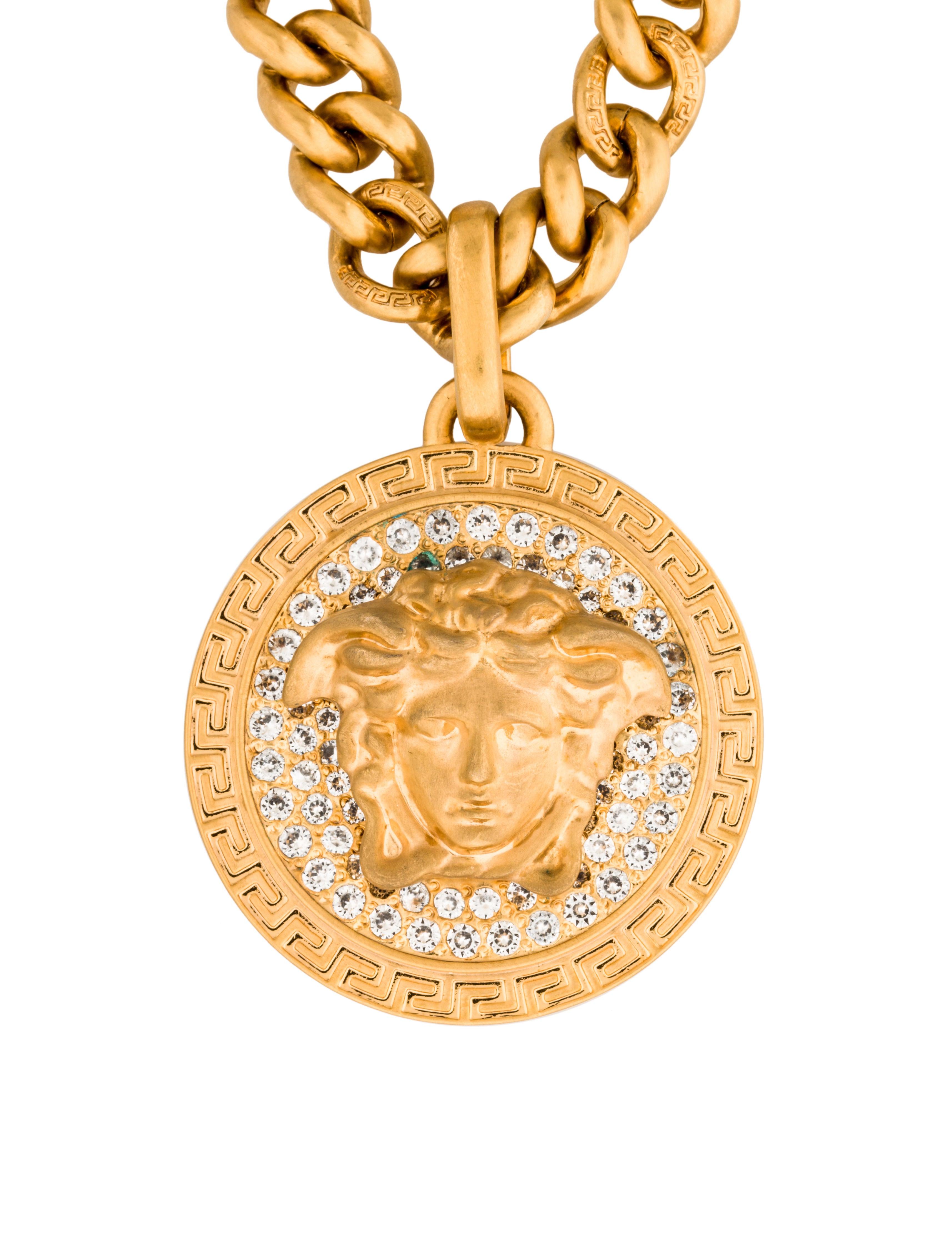 versace medusa pendant necklace necklaces ves28444