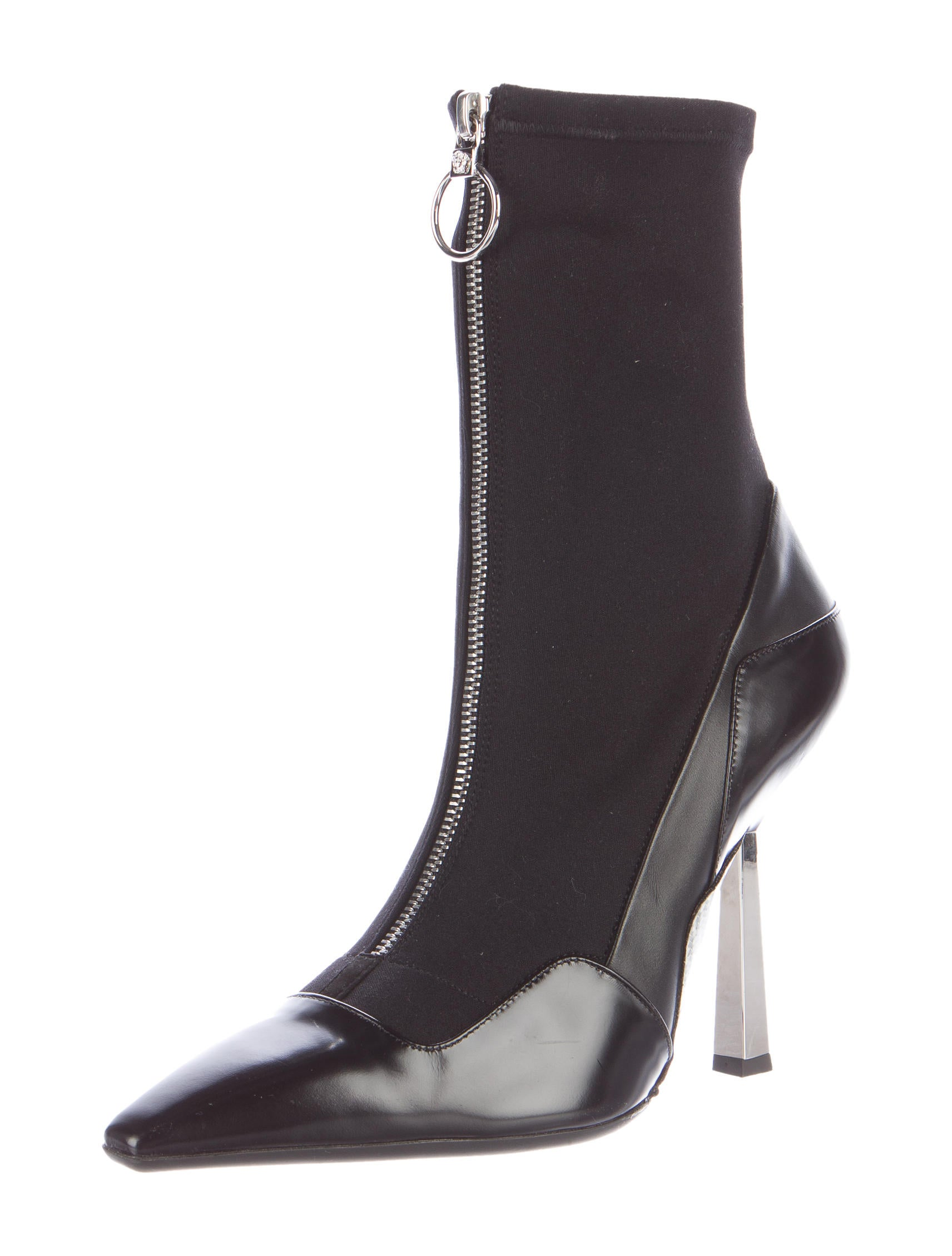 versace layered effect runway ankle boots shoes