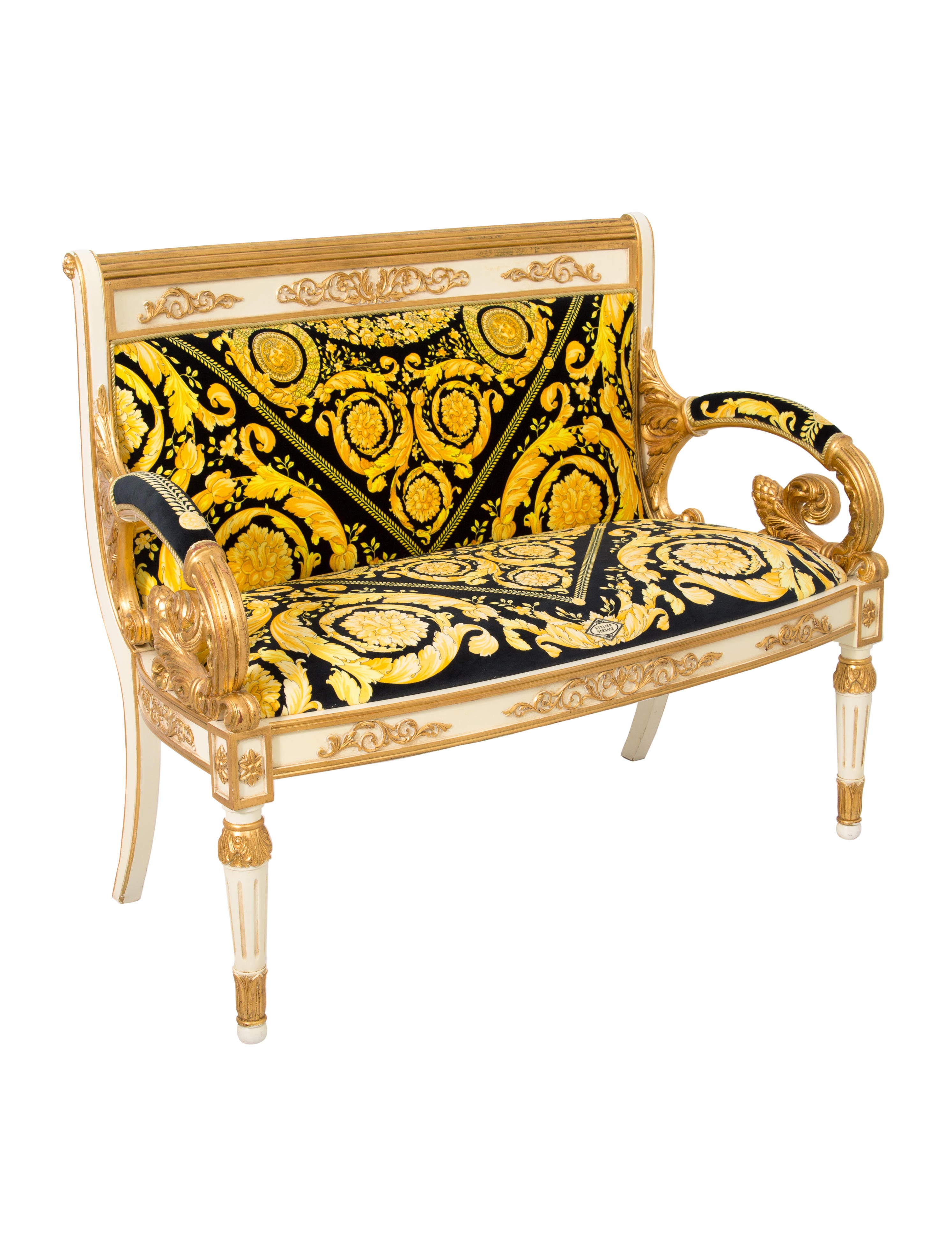 Versace Barocco Loveseat Furniture Ves28971 The Realreal