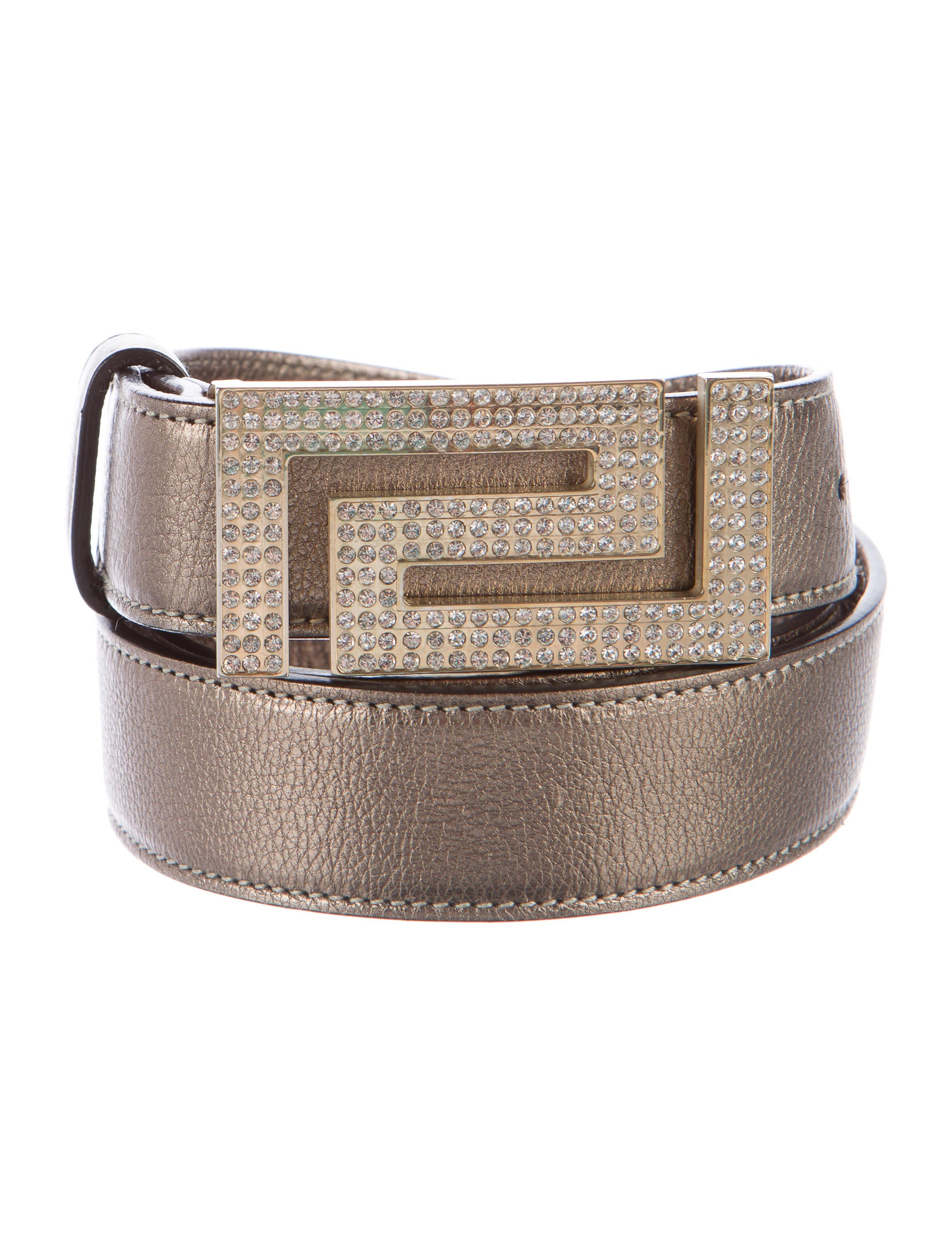 Relic Women's Embellished Brown Belt, Size: Large. Finish your look with a touch of modern charm when wearing this women's brown belt from Relic. In a smooth, pebbled synthetic leather design, this eye-catching accessory features multicolor topstitching and silvertone studs along the entire length.
