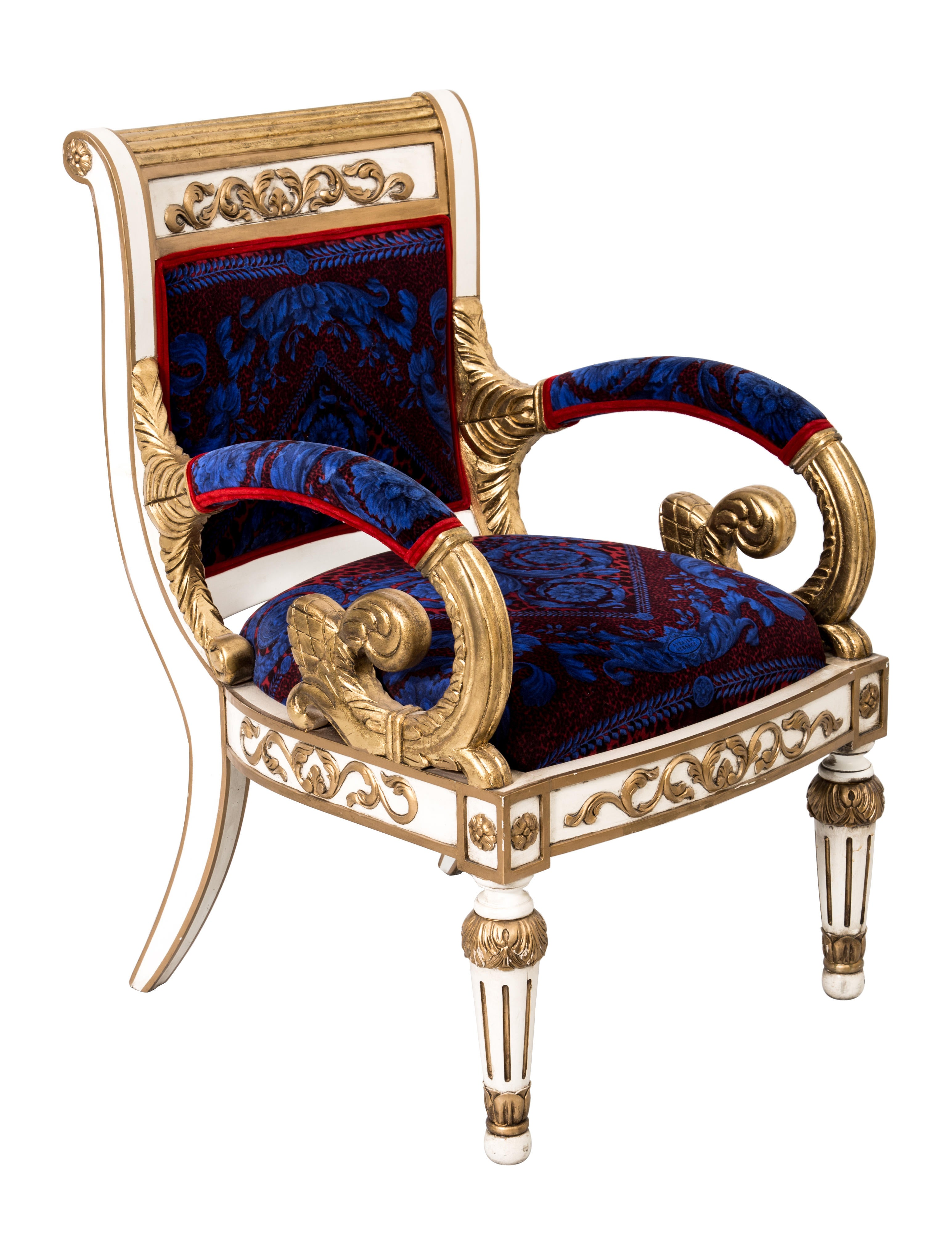 Versace Giltwood Arm Chair Furniture VES29019 The  : VES290191enlarged from www.therealreal.com size 3089 x 4076 jpeg 865kB