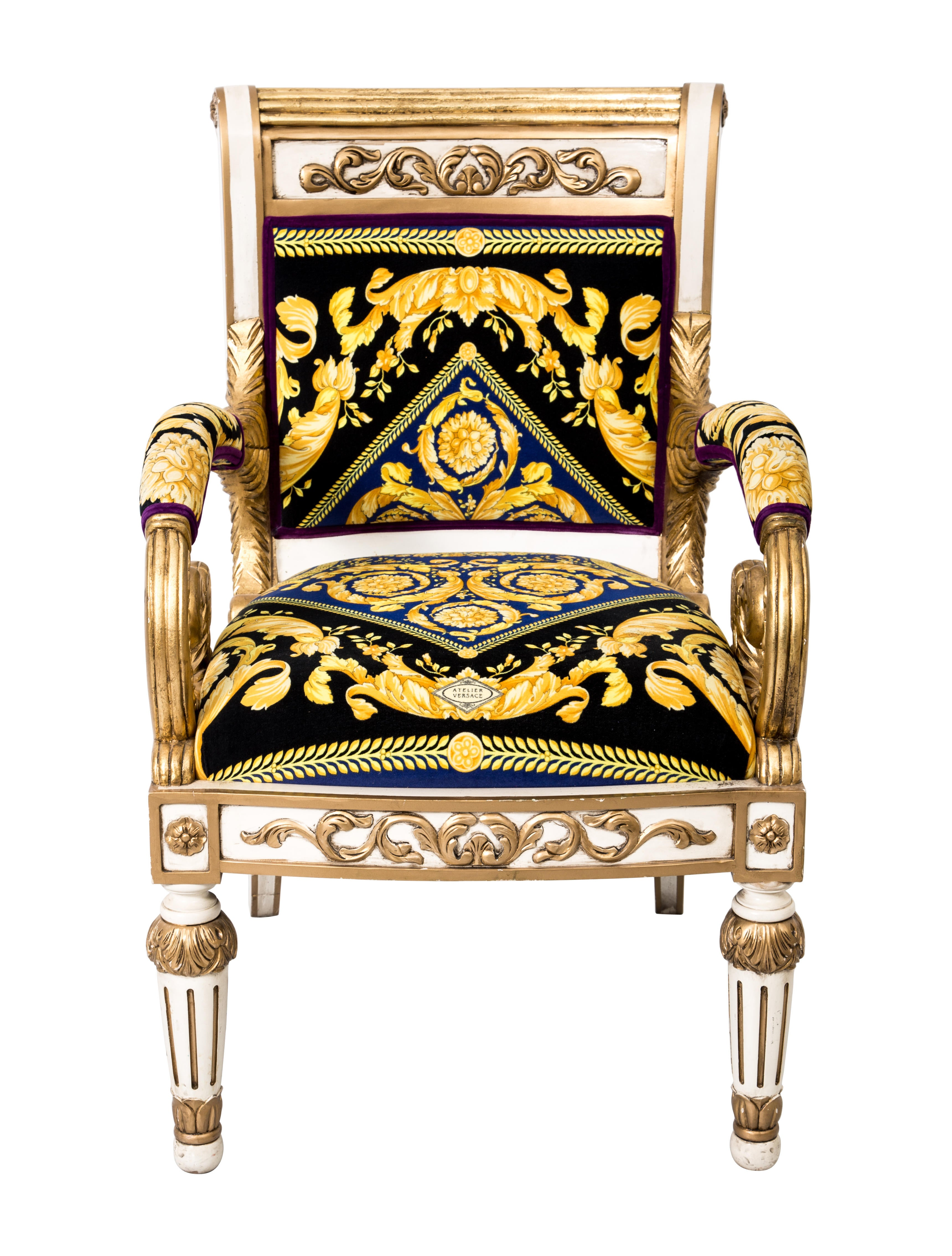 Versace Giltwood Arm Chair Furniture Ves29020 The Realreal