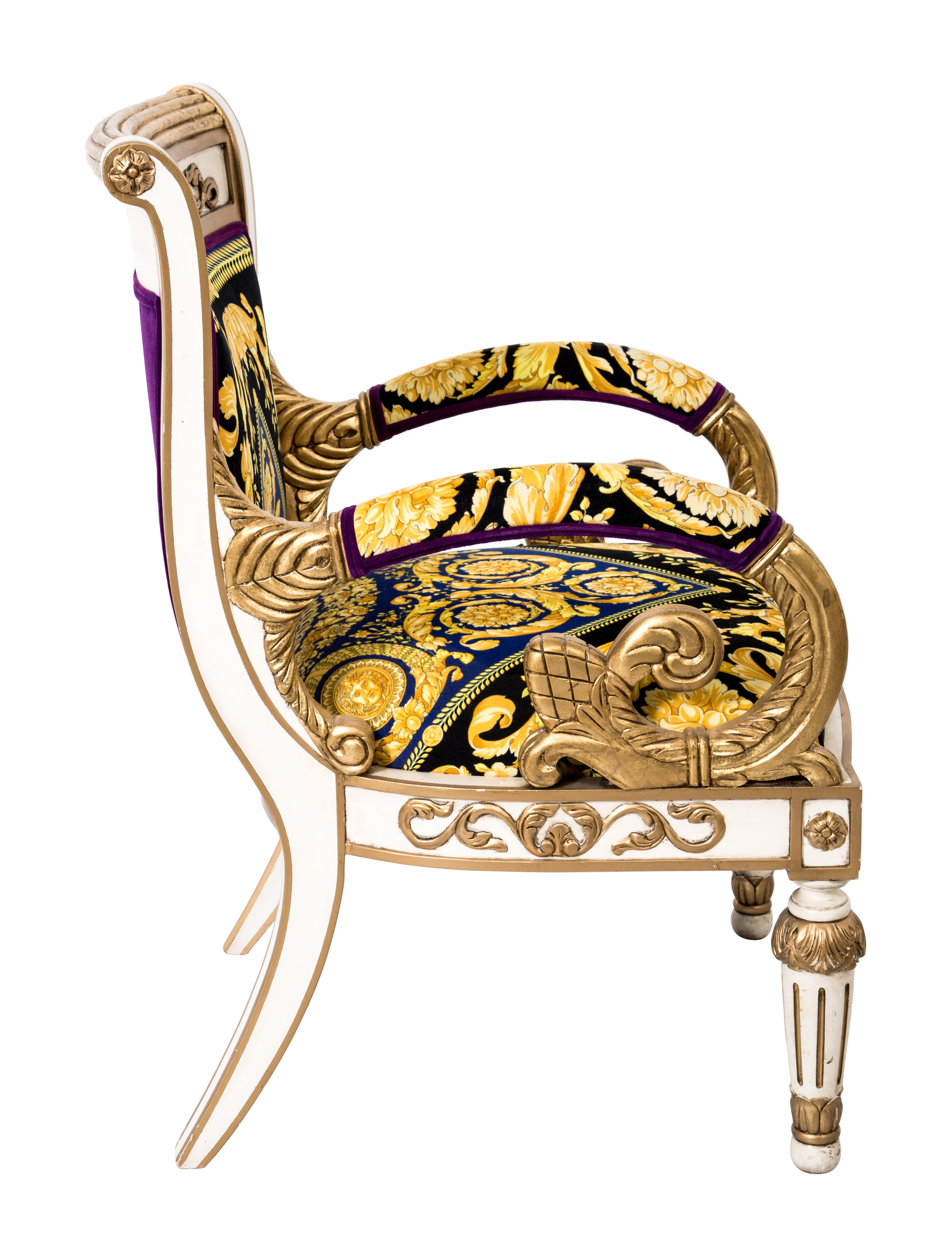 Versace Giltwood Arm Chair Furniture Ves29020 The