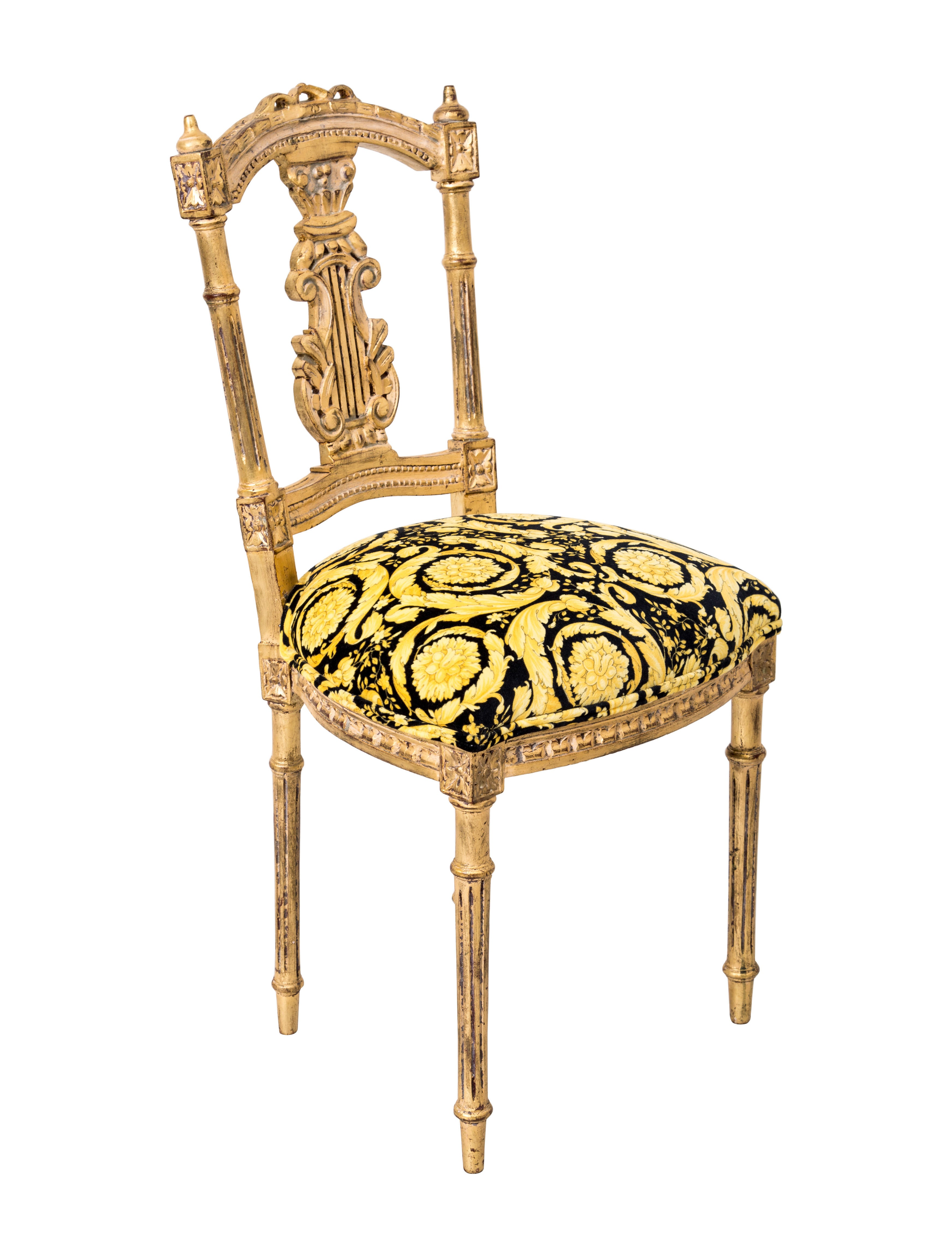 Versace Giltwood Side Chair Furniture VES29021 The  : VES290211enlarged from www.therealreal.com size 3489 x 4602 jpeg 761kB
