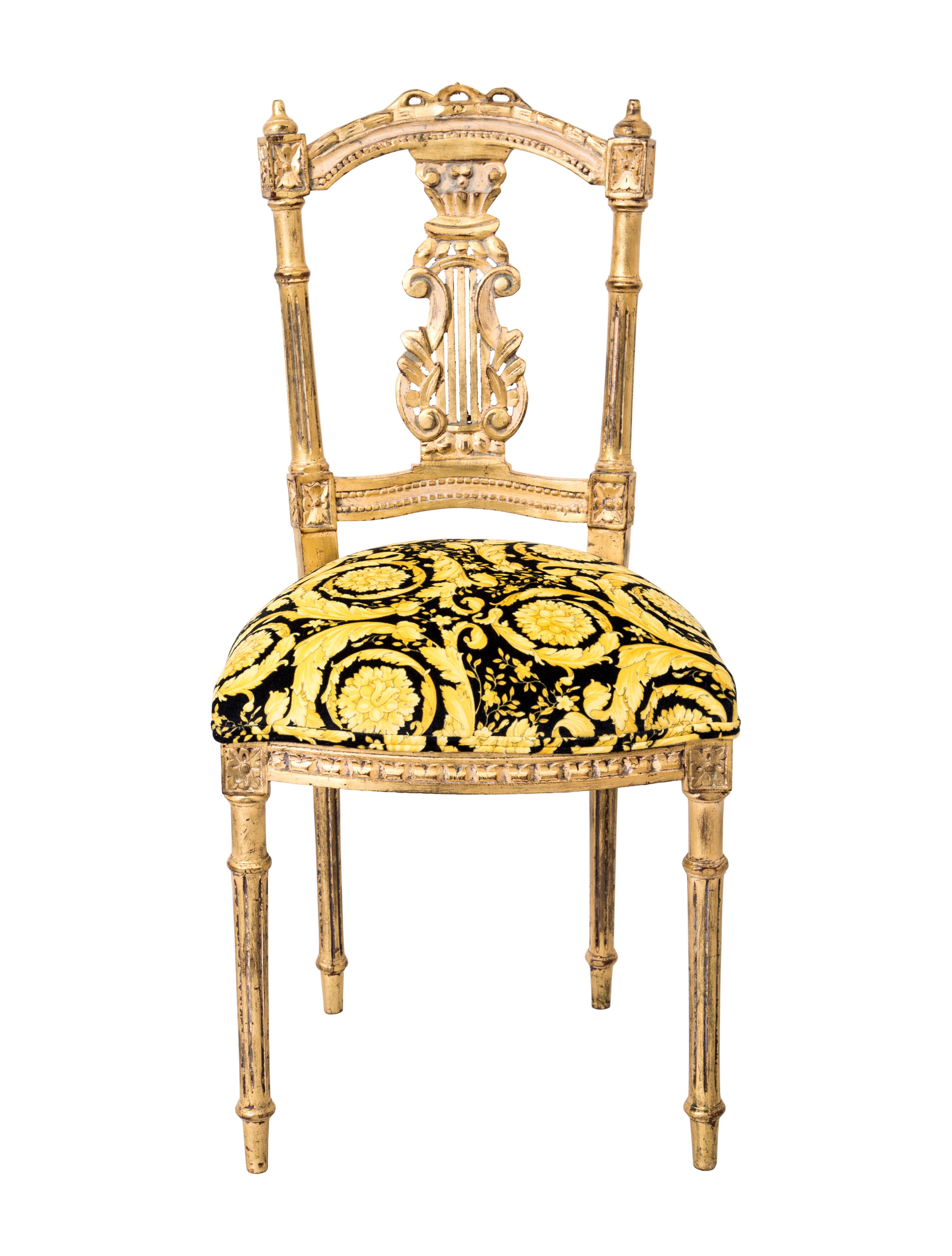 Versace Giltwood Side Chair Furniture VES29021 The  : VES290212enlarged from www.therealreal.com size 3319 x 4378 jpeg 746kB