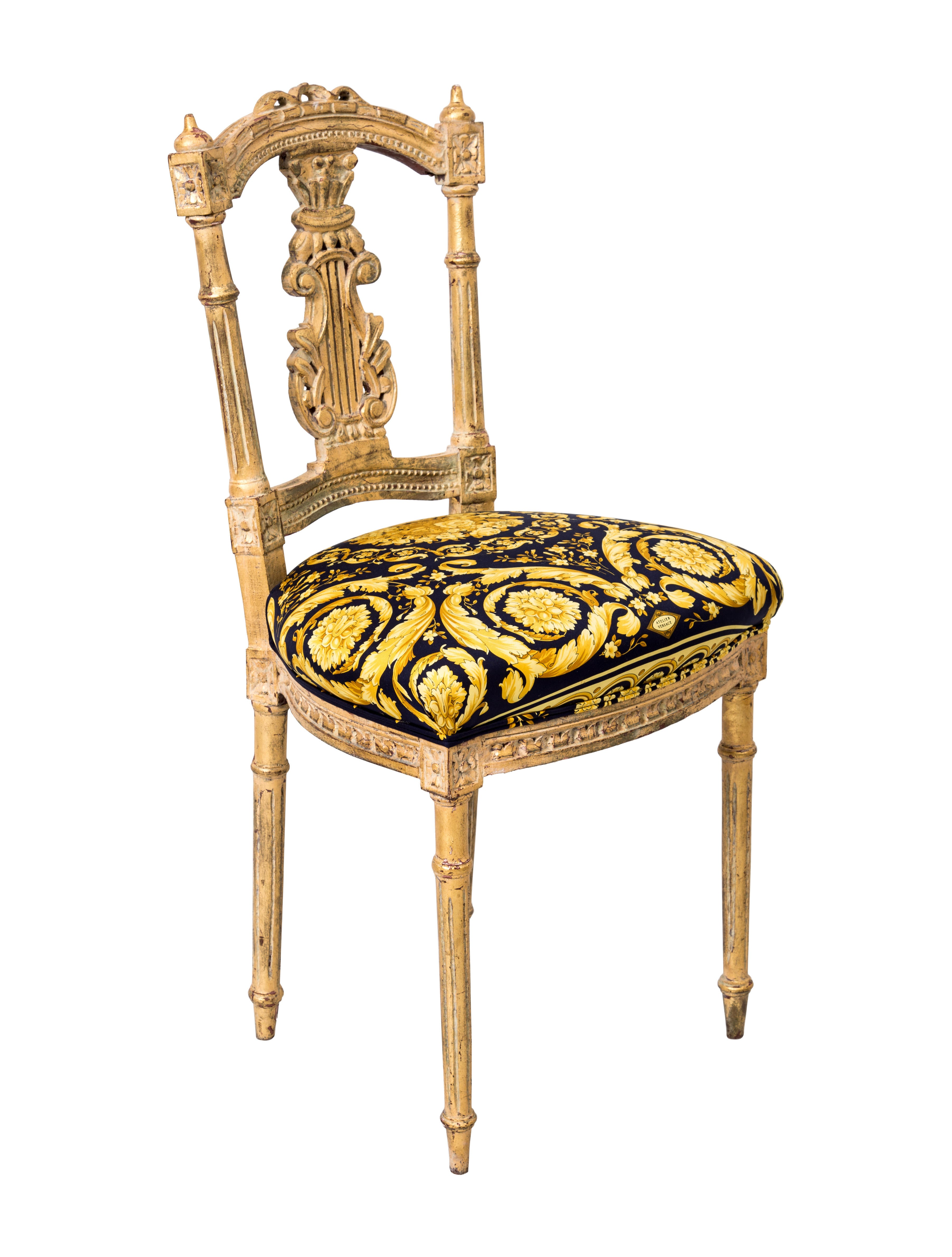 Versace Giltwood Side Chair Furniture VES29022 The  : VES290221enlarged from www.therealreal.com size 3605 x 4756 jpeg 833kB