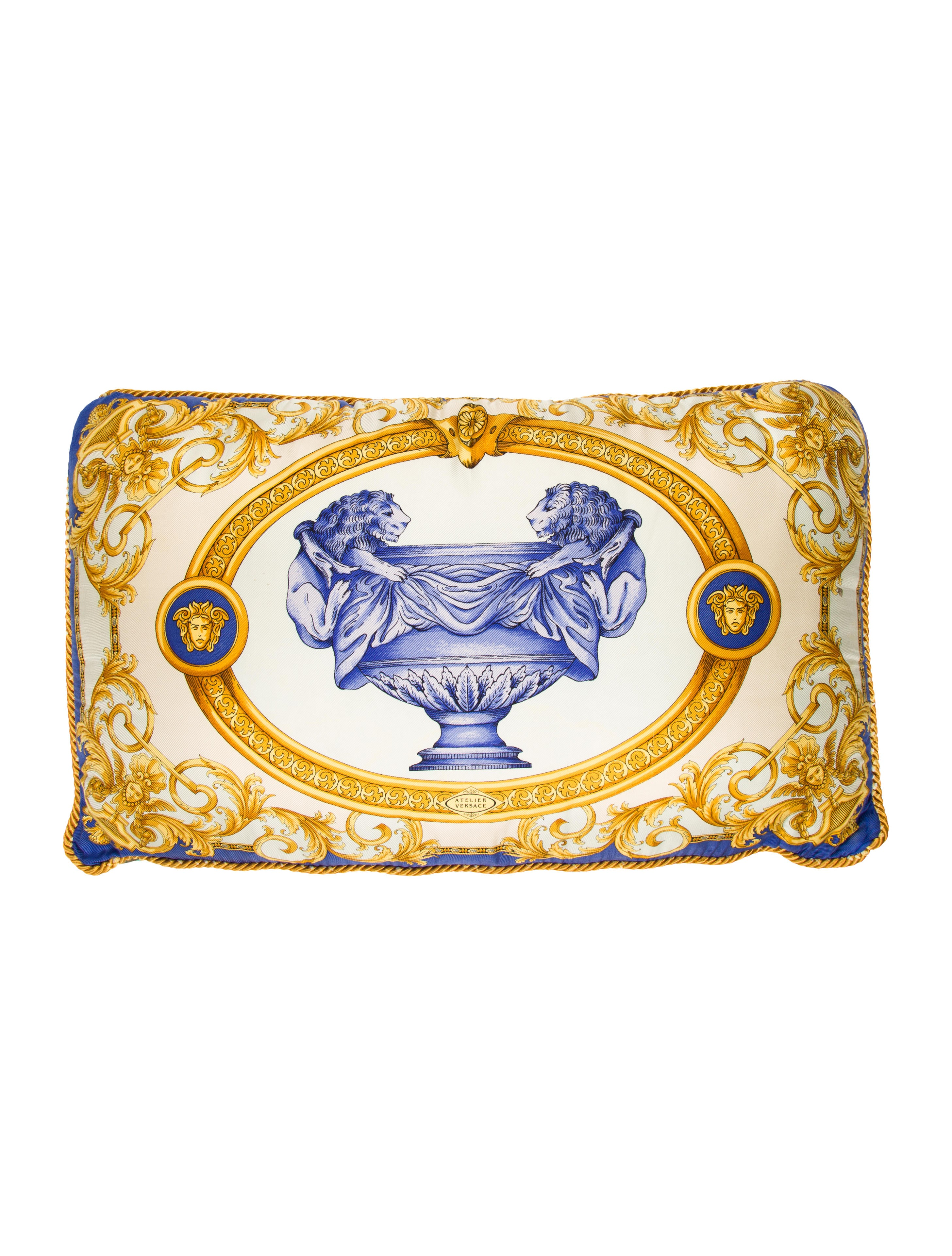 Versace Vintage Throw Pillow - Pillows And Throws - VES29045 The RealReal