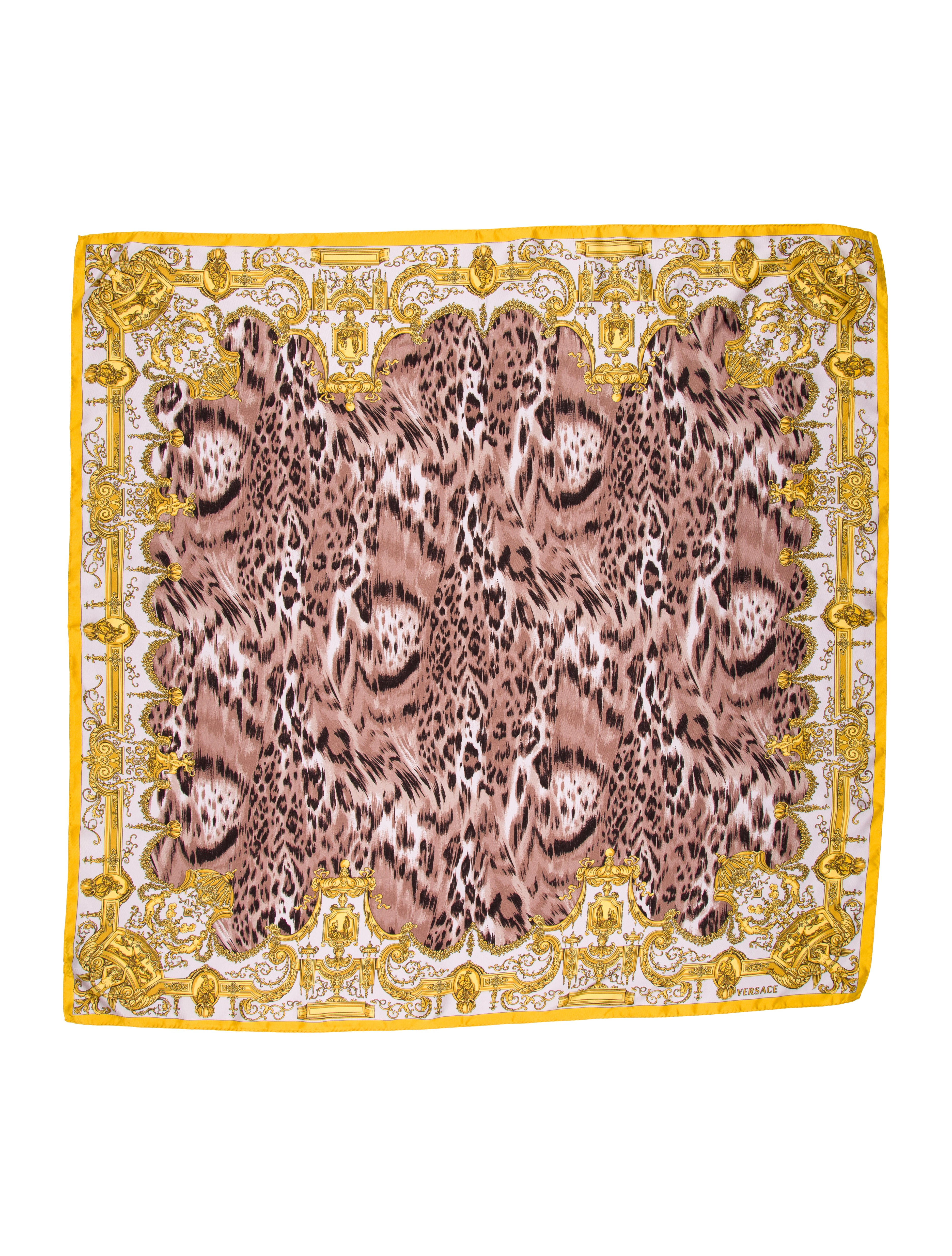 Versace Silk Printed Scarf Accessories VES29112 The  : VES291122enlarged from www.therealreal.com size 3747 x 4943 jpeg 2872kB