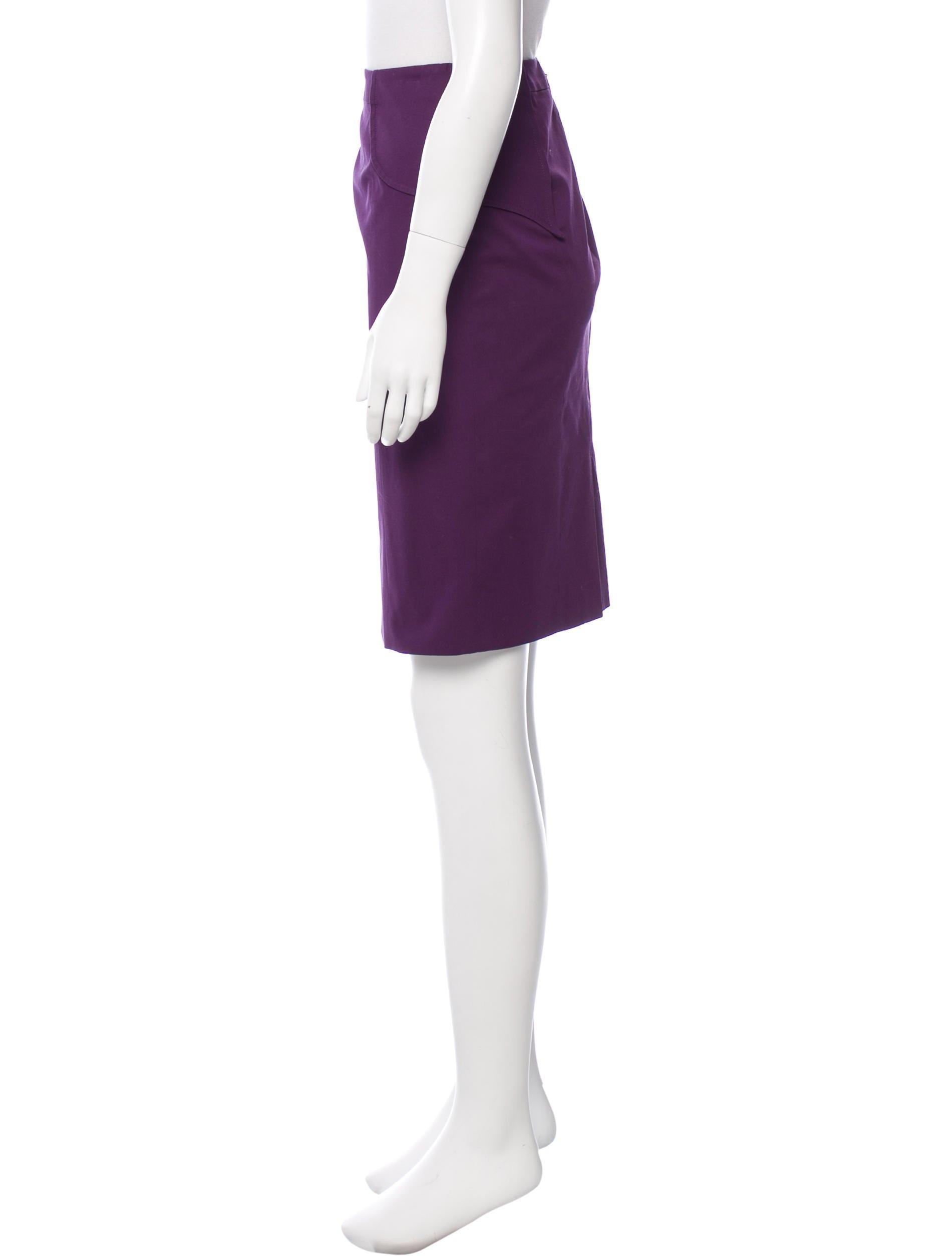 versace knee length pencil skirt clothing ves29113