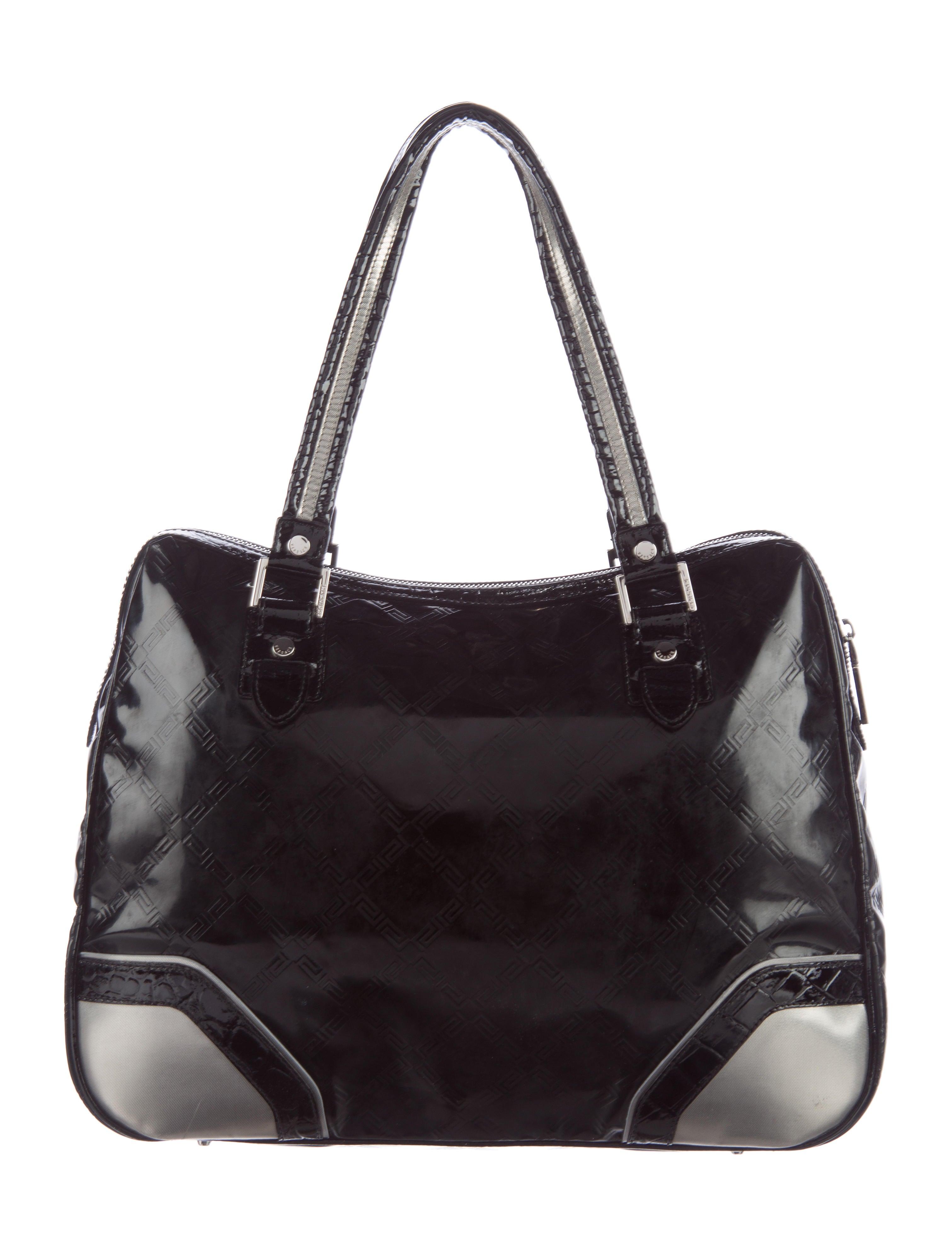 Versace Embossed Vinyl Shoulder Bag Handbags Ves29120