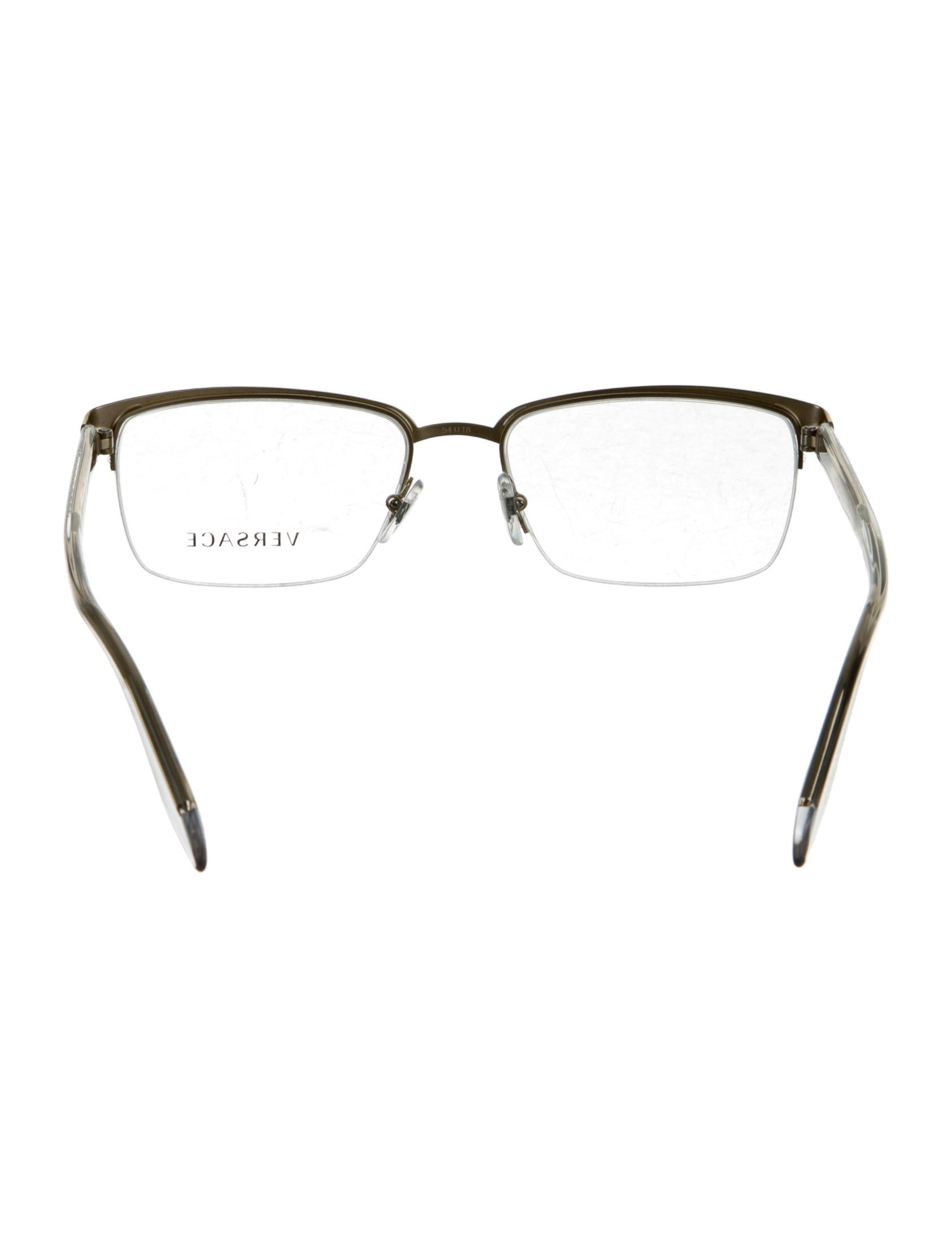 Versace Metallic Semi-Rimless Eyeglasses w/ Tags ...