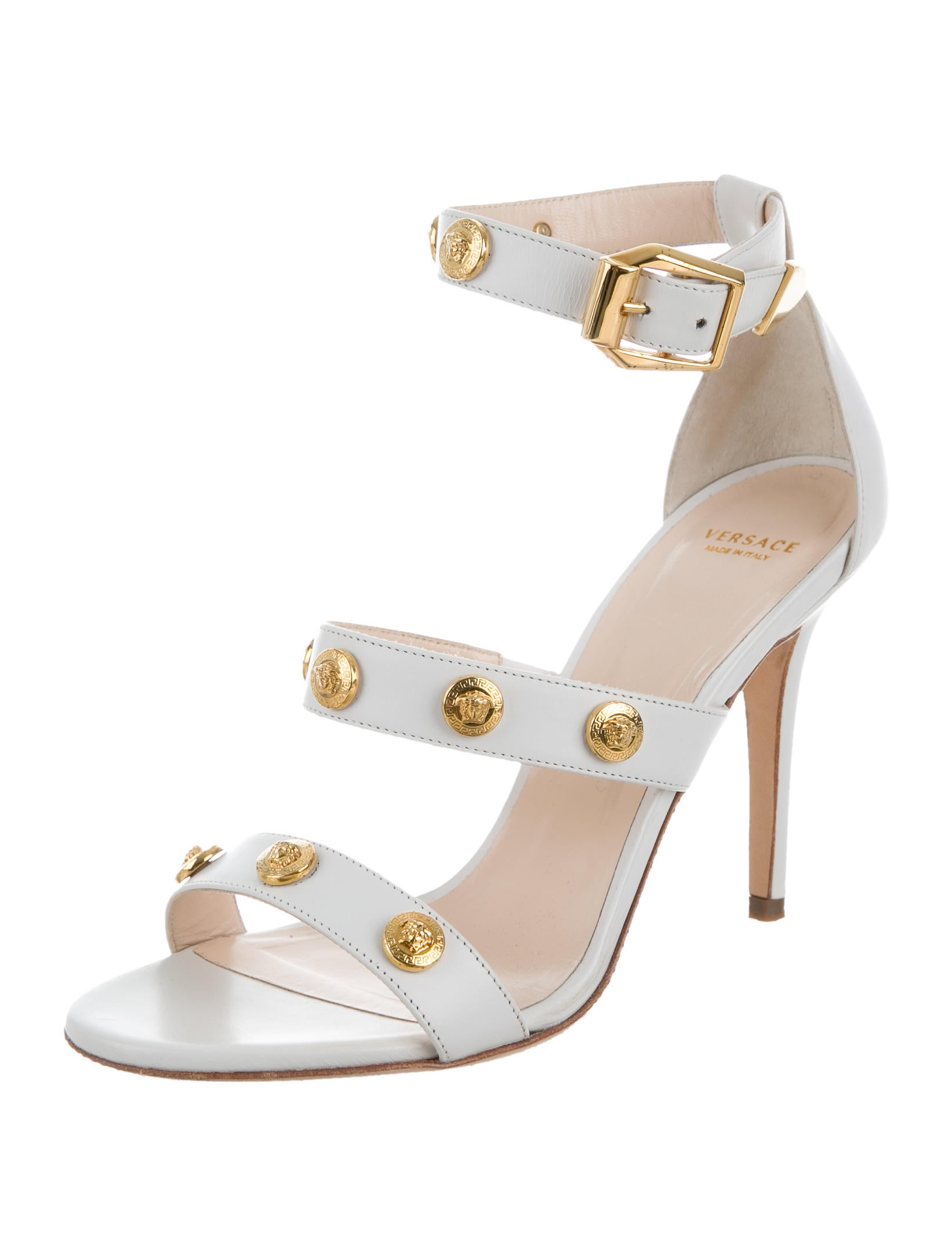 Versace Leather Medusa Sandals - Shoes - VES29541 | The RealReal
