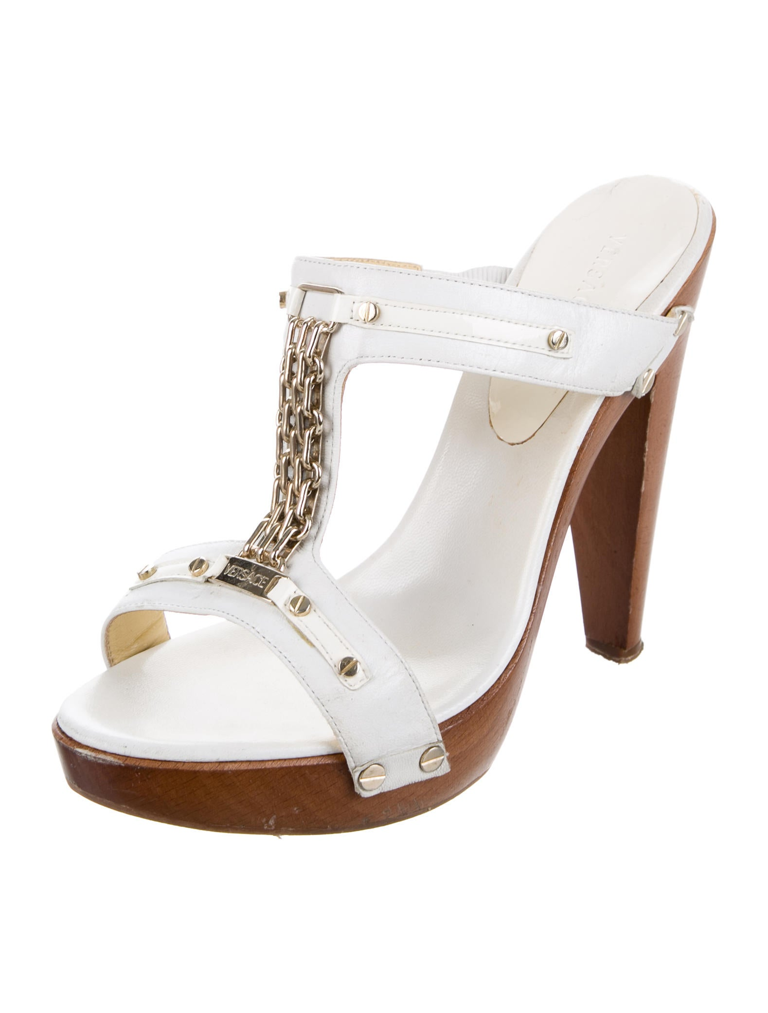 Versace Slide Platform Sandals - Shoes - VES29652 | The RealReal