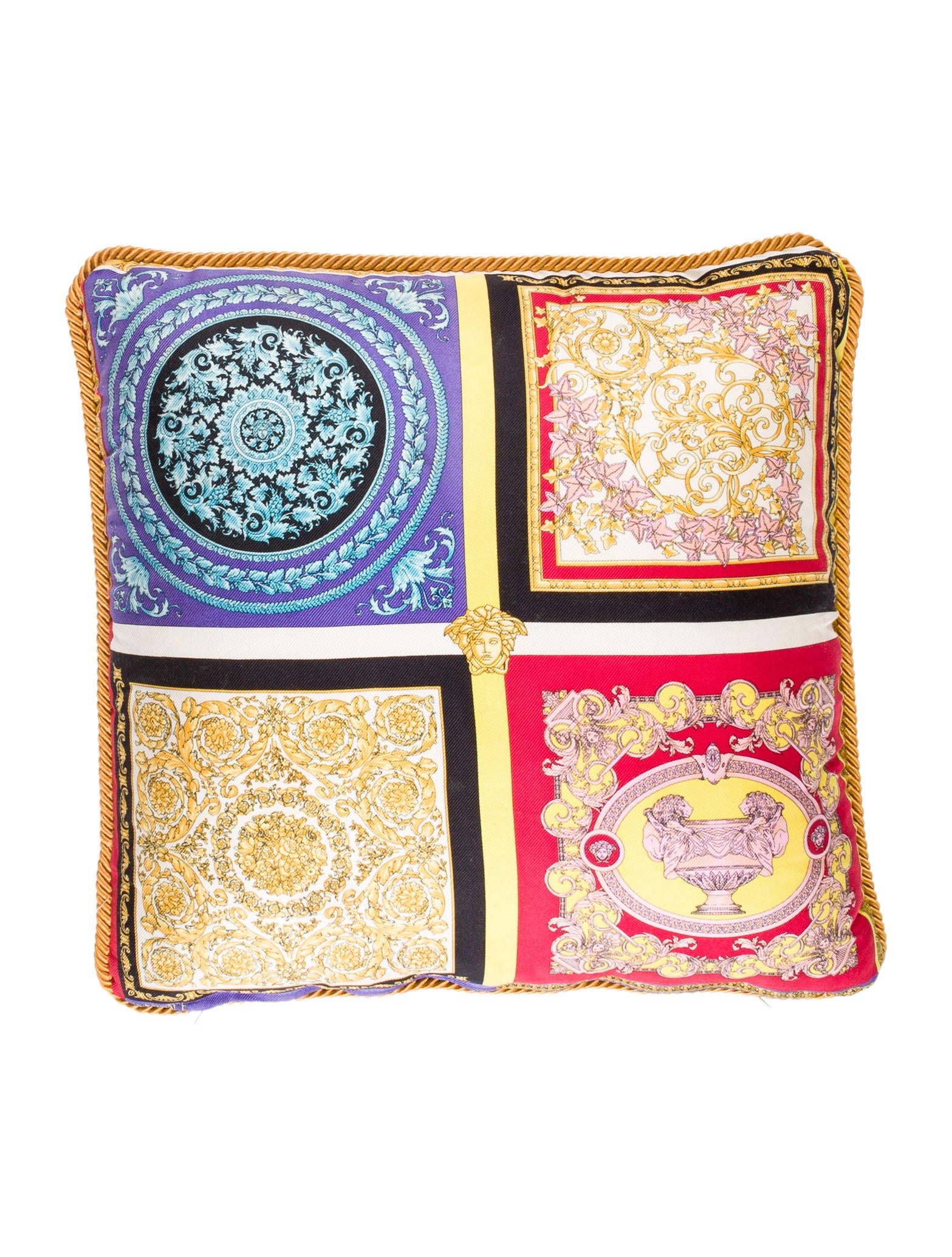 Versace Silk Throw Pillow - Bedding And Bath - VES29759 The RealReal