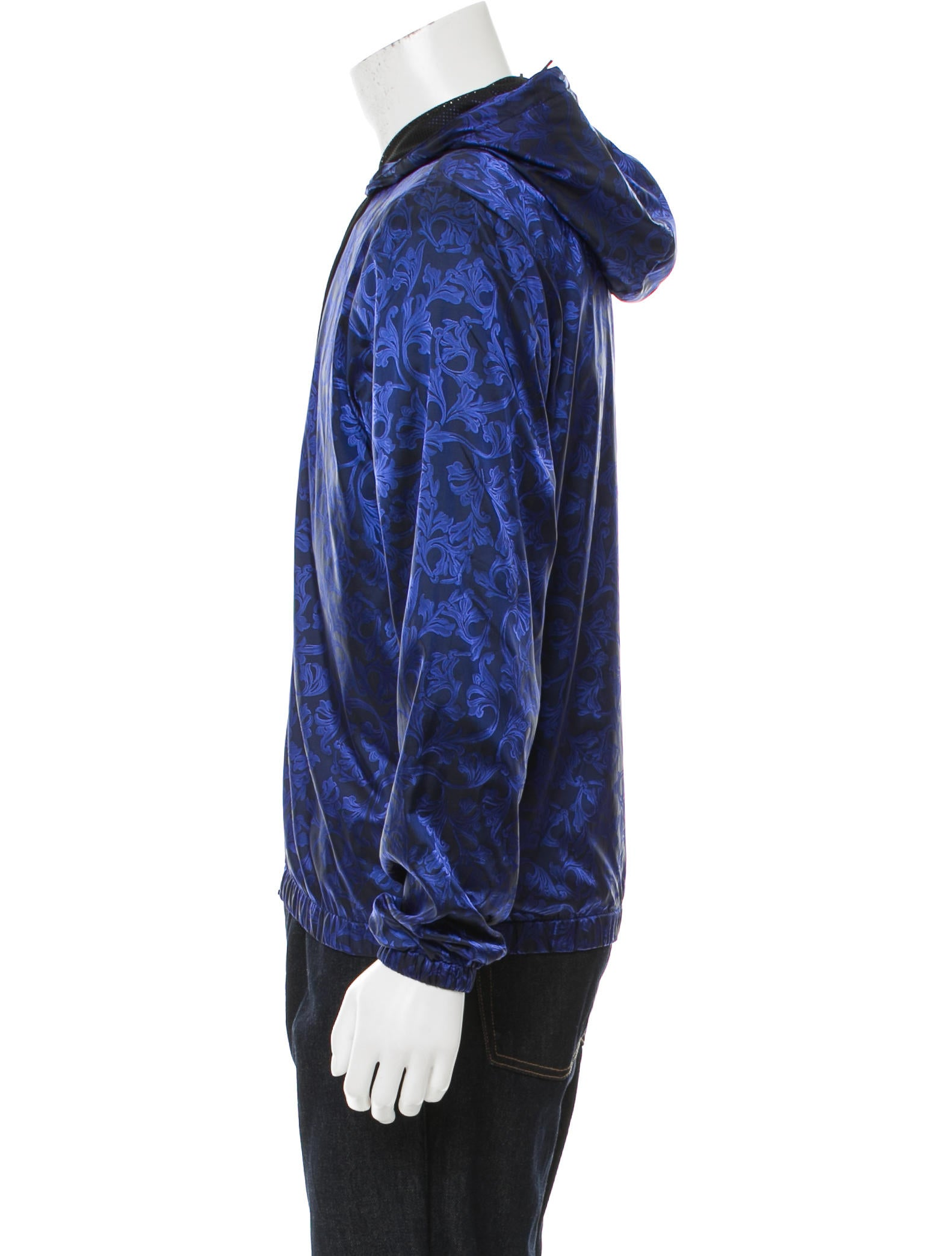 Versace Brocade Print Windbreaker Jacket w Tags  : VES299272enlarged from www.therealreal.com size 1582 x 2087 jpeg 173kB