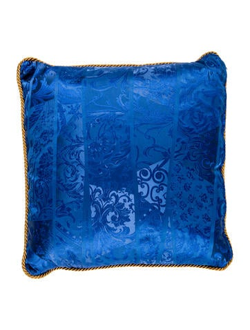 Versace Blue Silk Throw Pillow - Bedding And Bath - VES29952 The RealReal