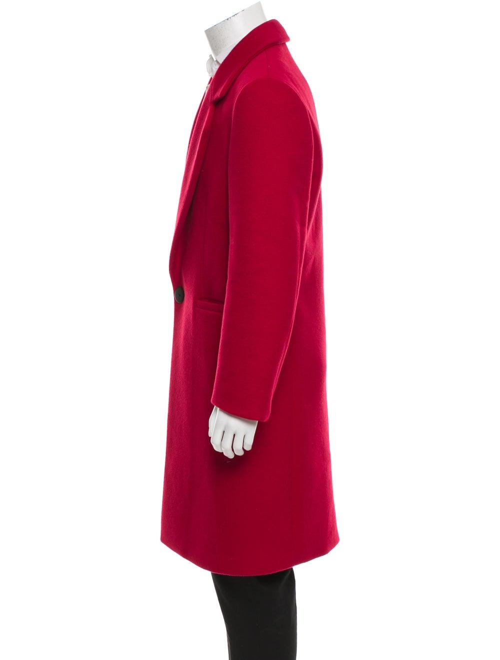 Versace Wool Notch Lapel Overcoat red - image 2