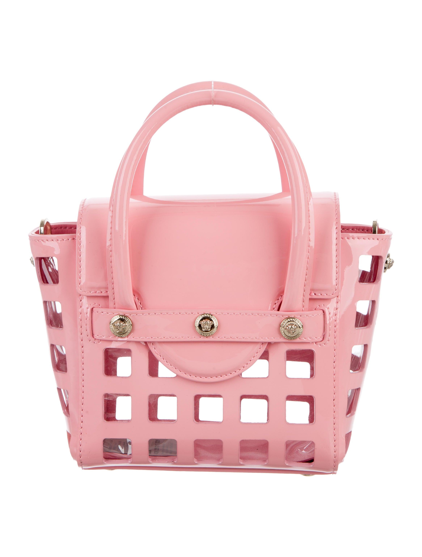 Versace Patent Leather Signature Bag - Handbags - VES30210   The ... cd7ae0fb44