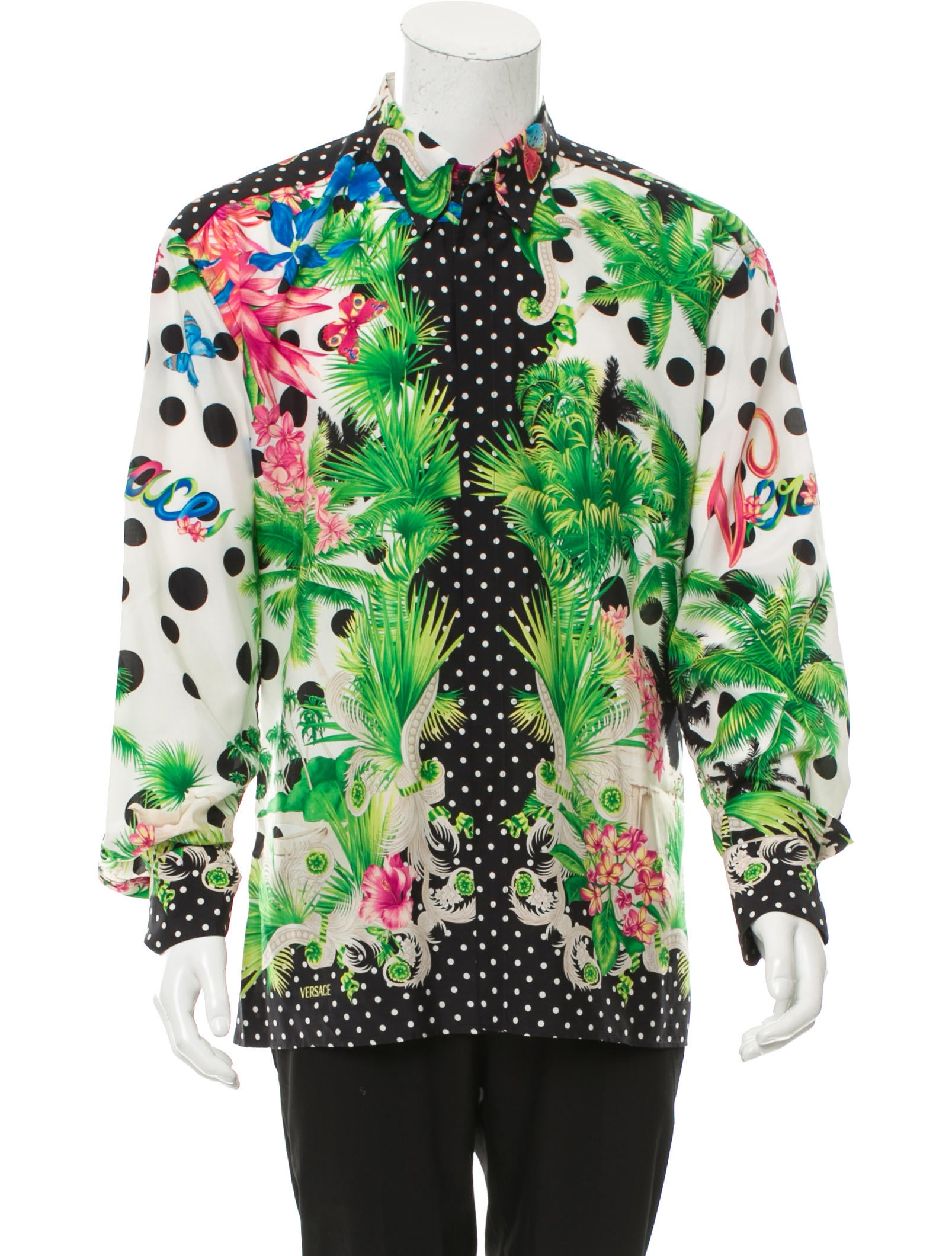 Versace Abstract Print Button Up Shirt Clothing  : VES304141enlarged from www.therealreal.com size 1607 x 2120 jpeg 384kB
