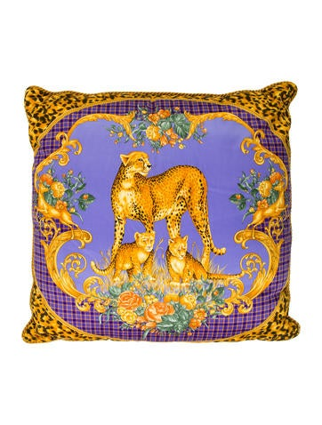 Versace Leopard Throw Pillow - Pillows And Throws - VES30448 The RealReal