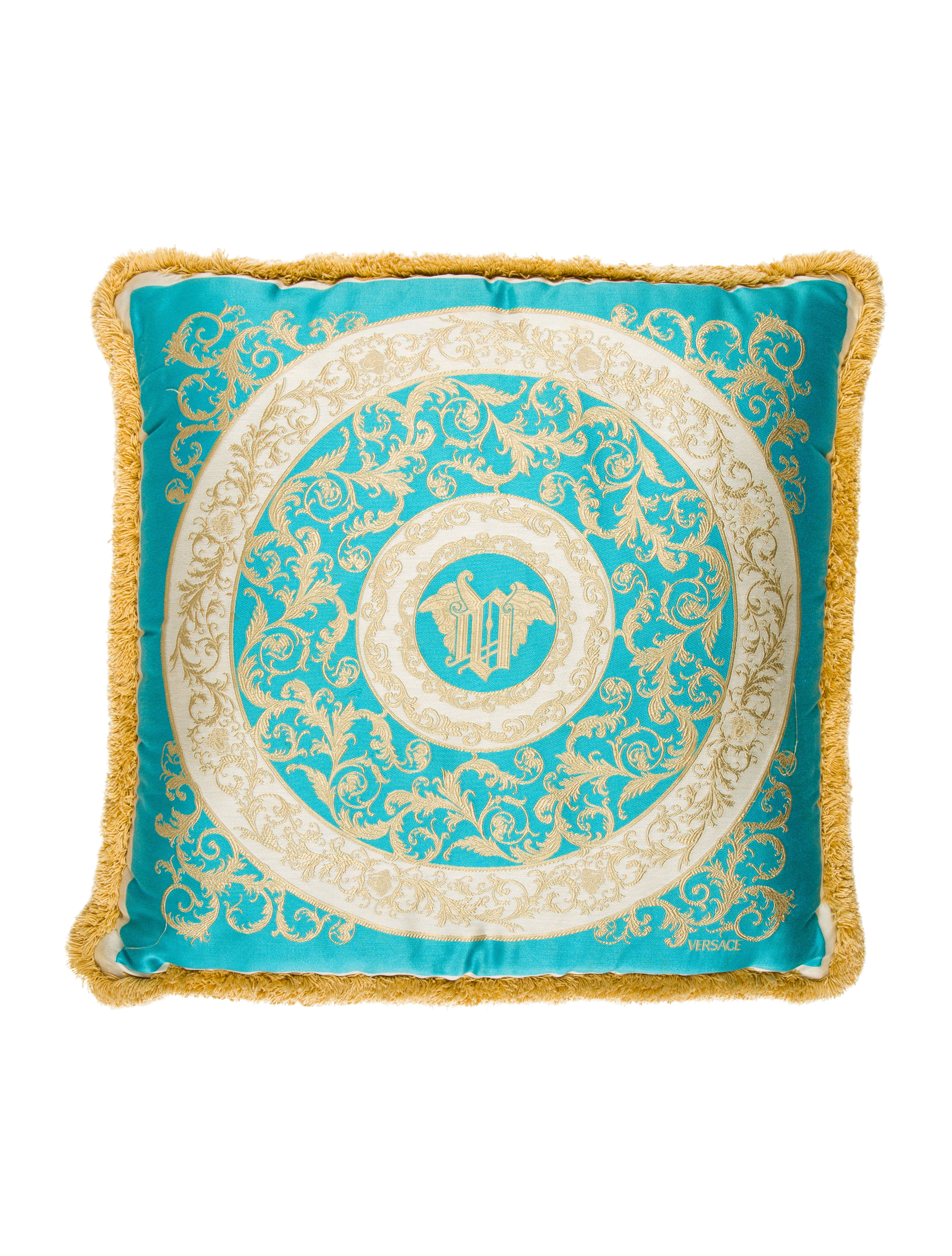 Versace Fringe Throw Pillow - Pillows And Throws - VES30453 The RealReal