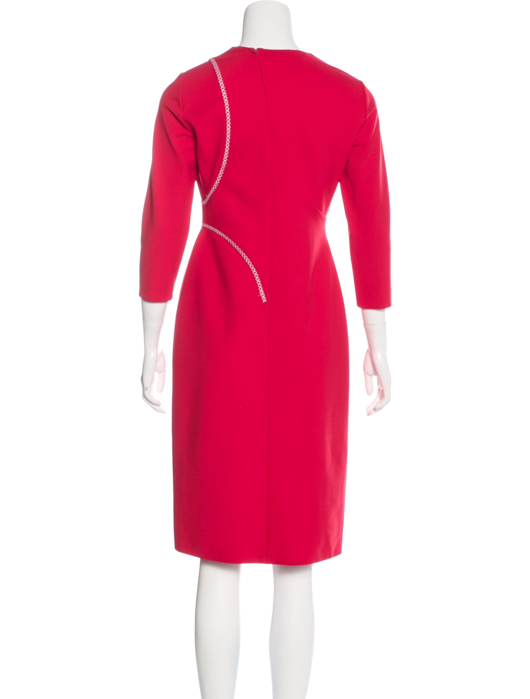 Versace Long Sleeve Midi Dress w Tags Clothing  : VES305713enlarged from www.therealreal.com size 2017 x 2661 jpeg 122kB