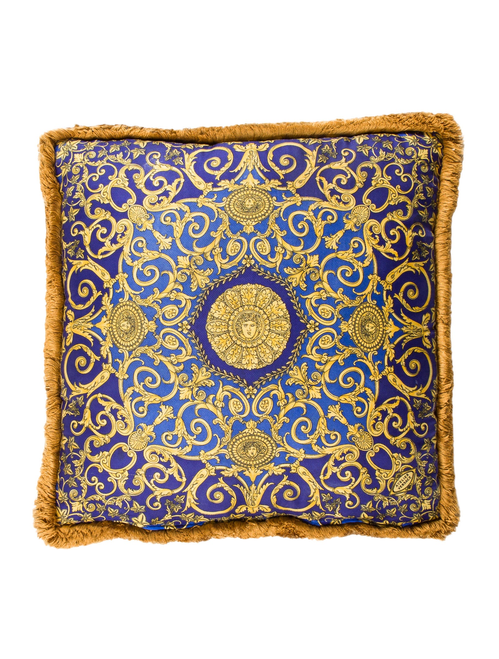 Versace Silk Throw Pillow Pillows And Throws VES30590 The